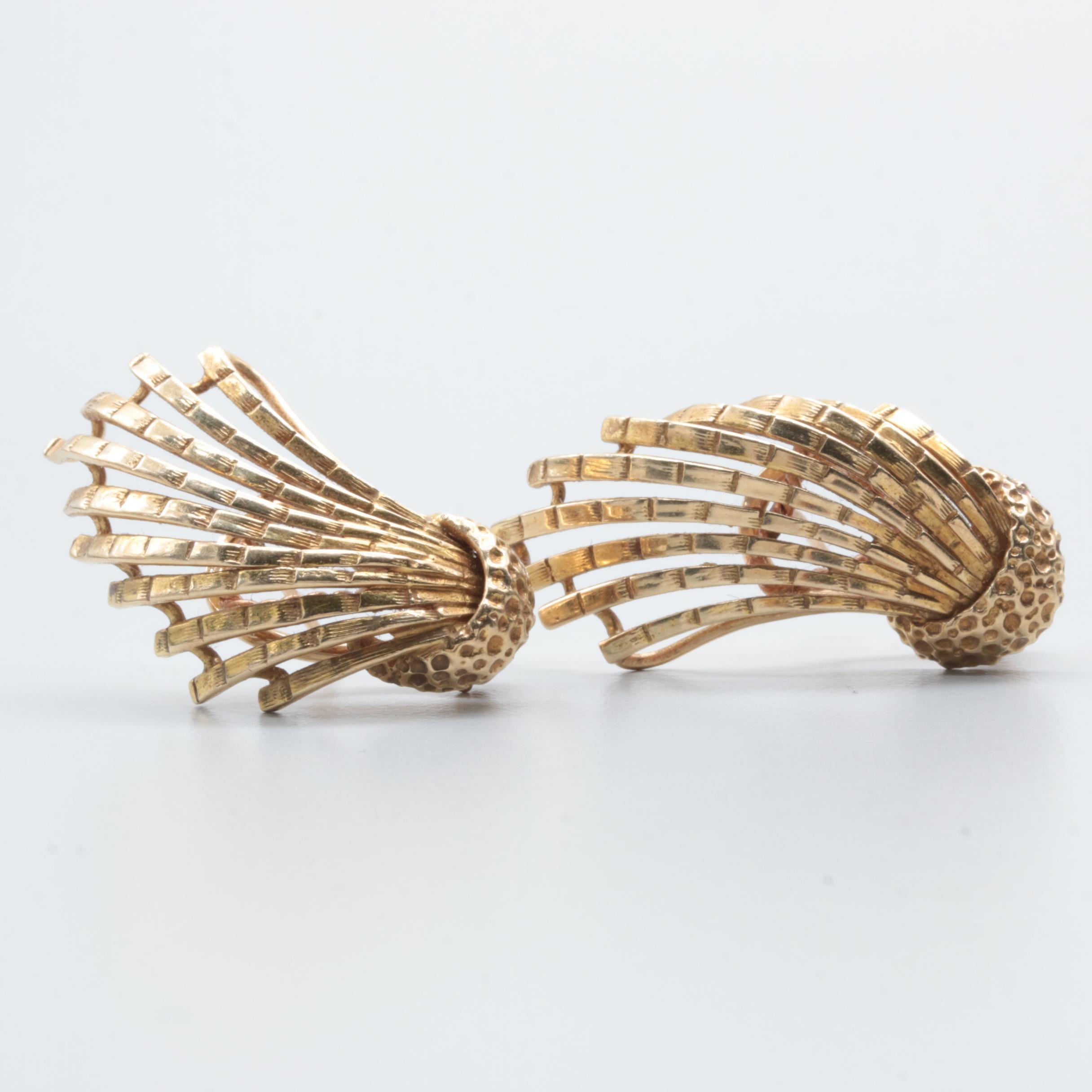 Dan Frere 14K Yellow Gold Earrings