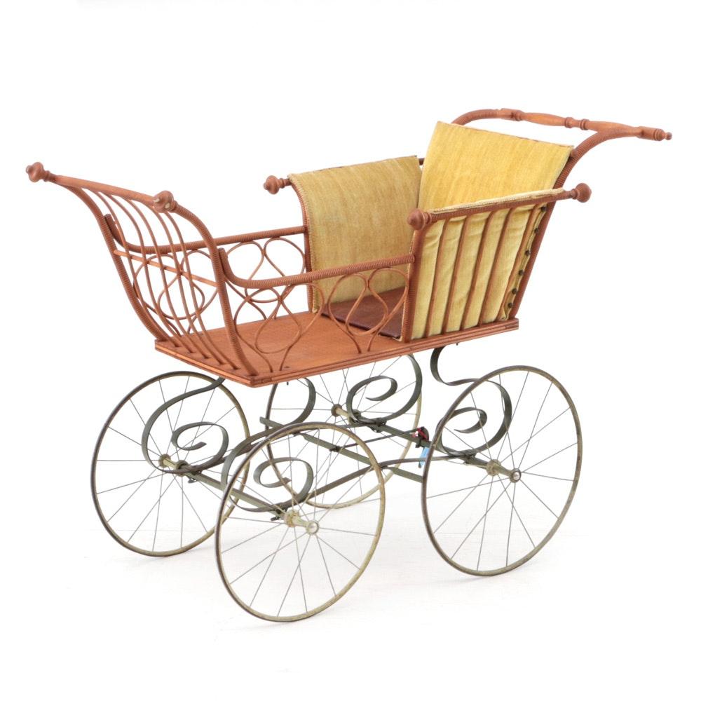 Antique Heywood-Wakefield Style Stroller