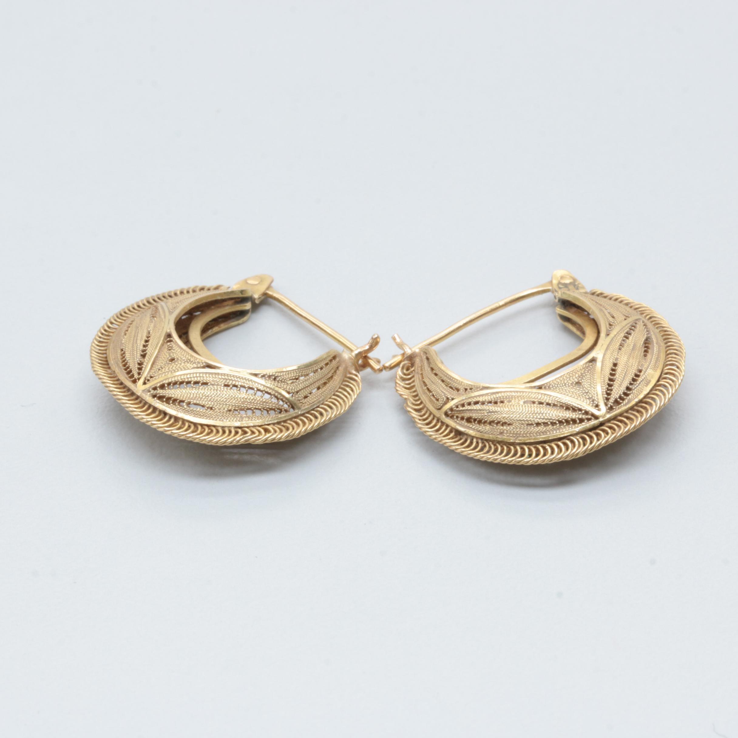18K Yellow Gold Earrings