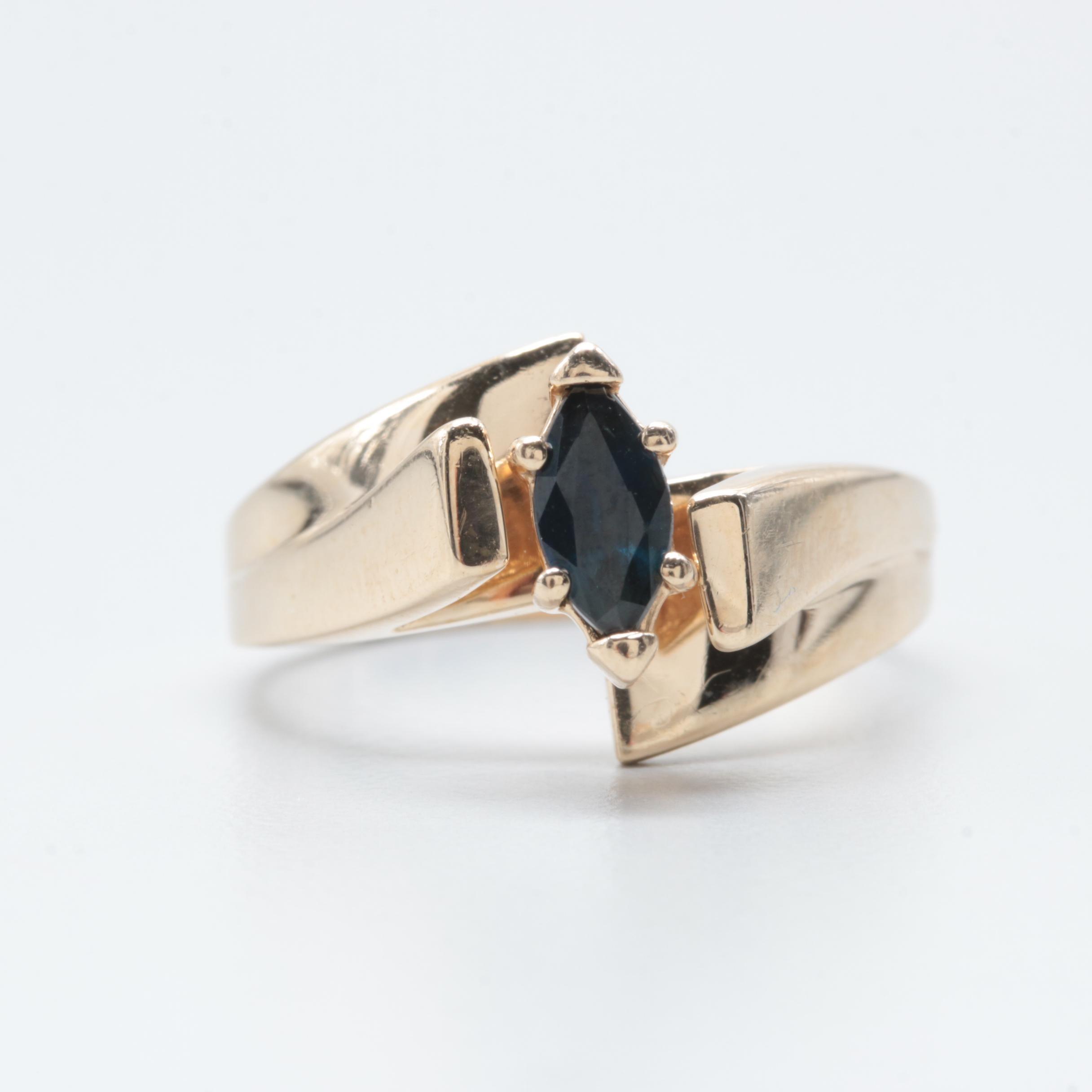 Alwand Vahan 14K Yellow Gold Sapphire Ring