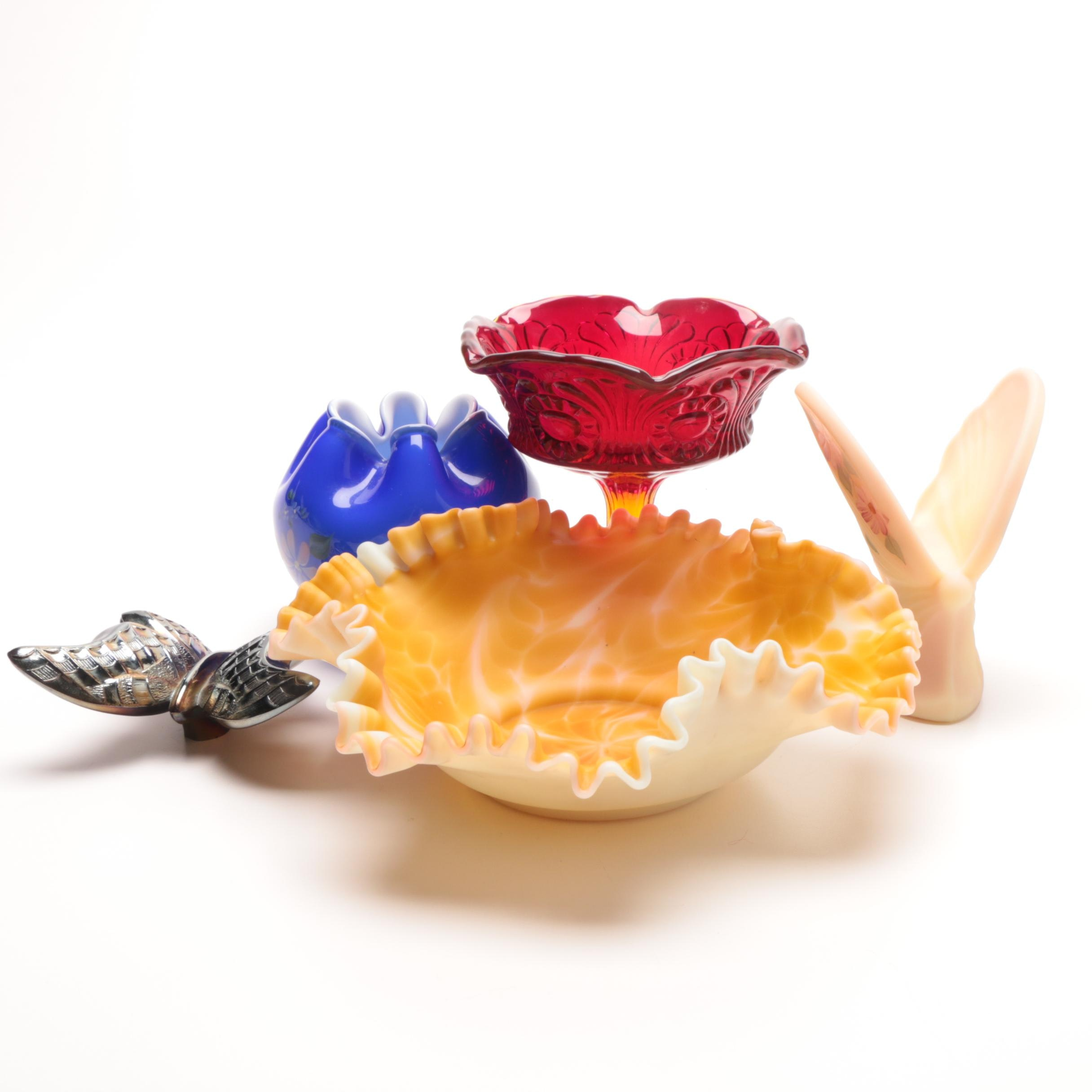 Decorative Fenton Art Glass Including Signed Pieces