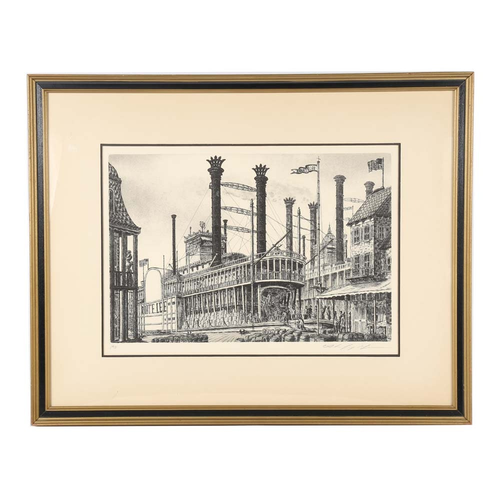 Alan Jay Gaines Lithographic Print on Paper