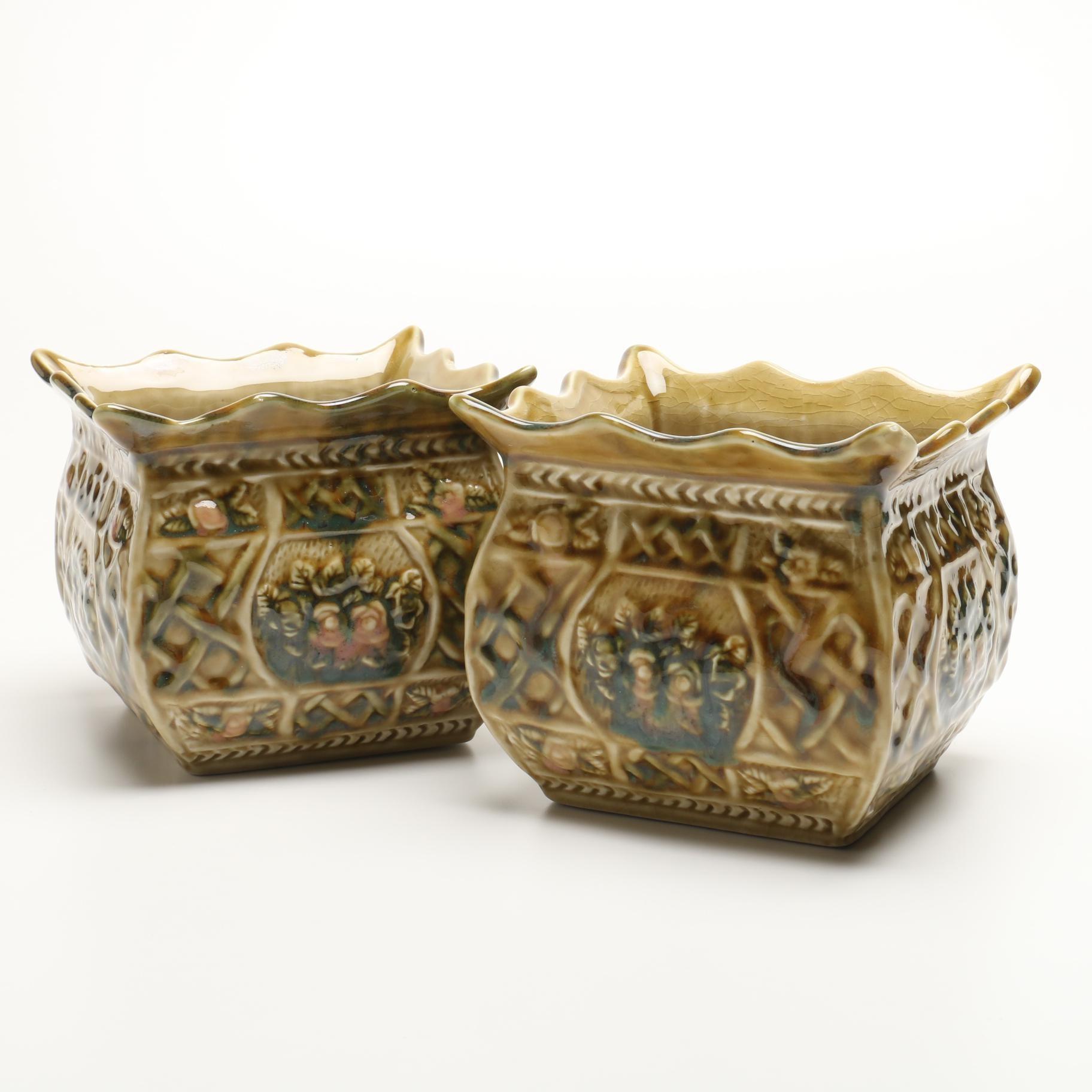"Vintage Hull ""Imperial"" Ceramic Planters"