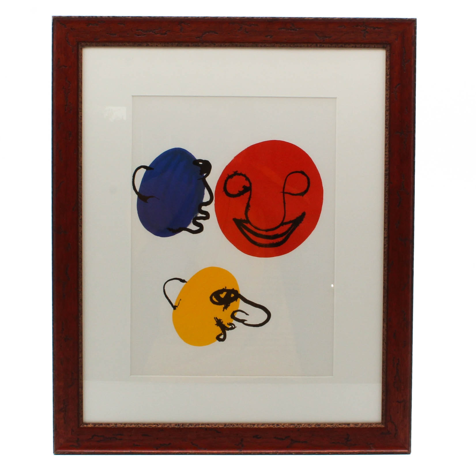 "Alexander Calder Color Lithograph from 1976 ""Derriere le Miroir, No. 221"""