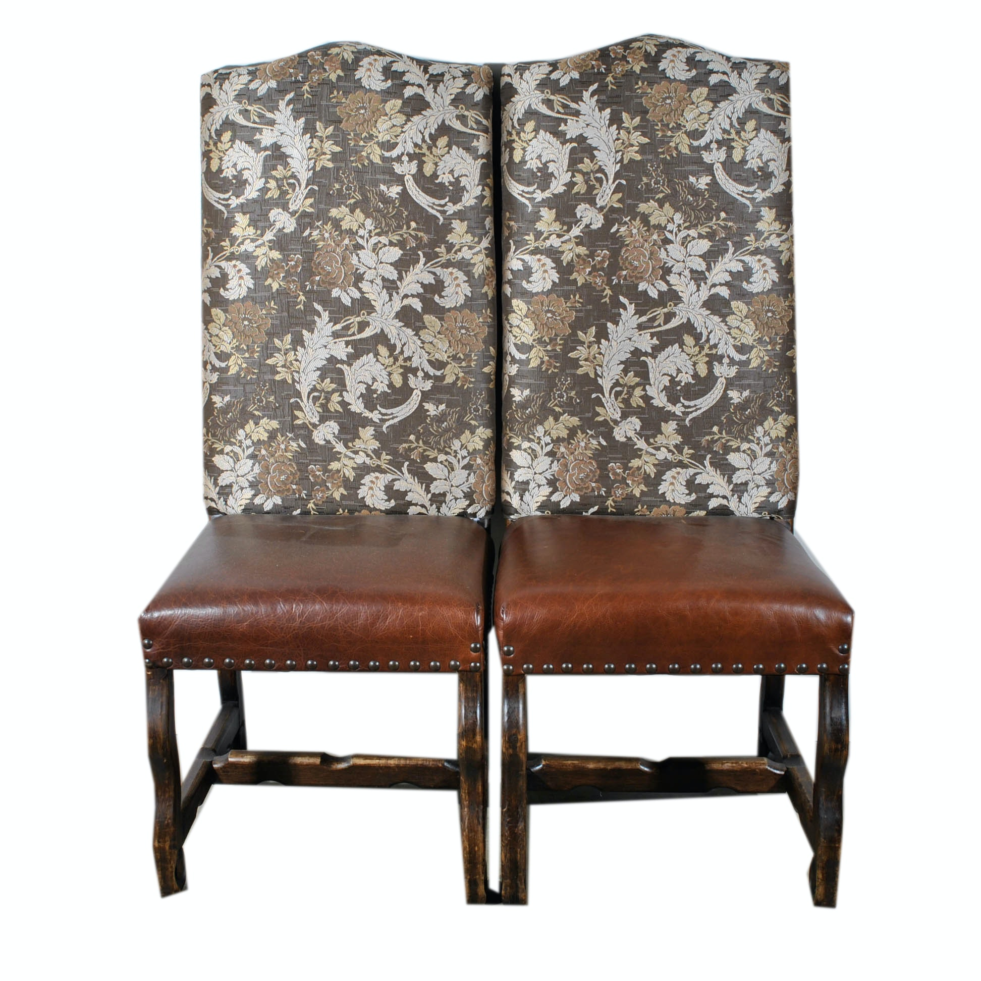 Louis XIV Style Upholstered Side Chairs ...