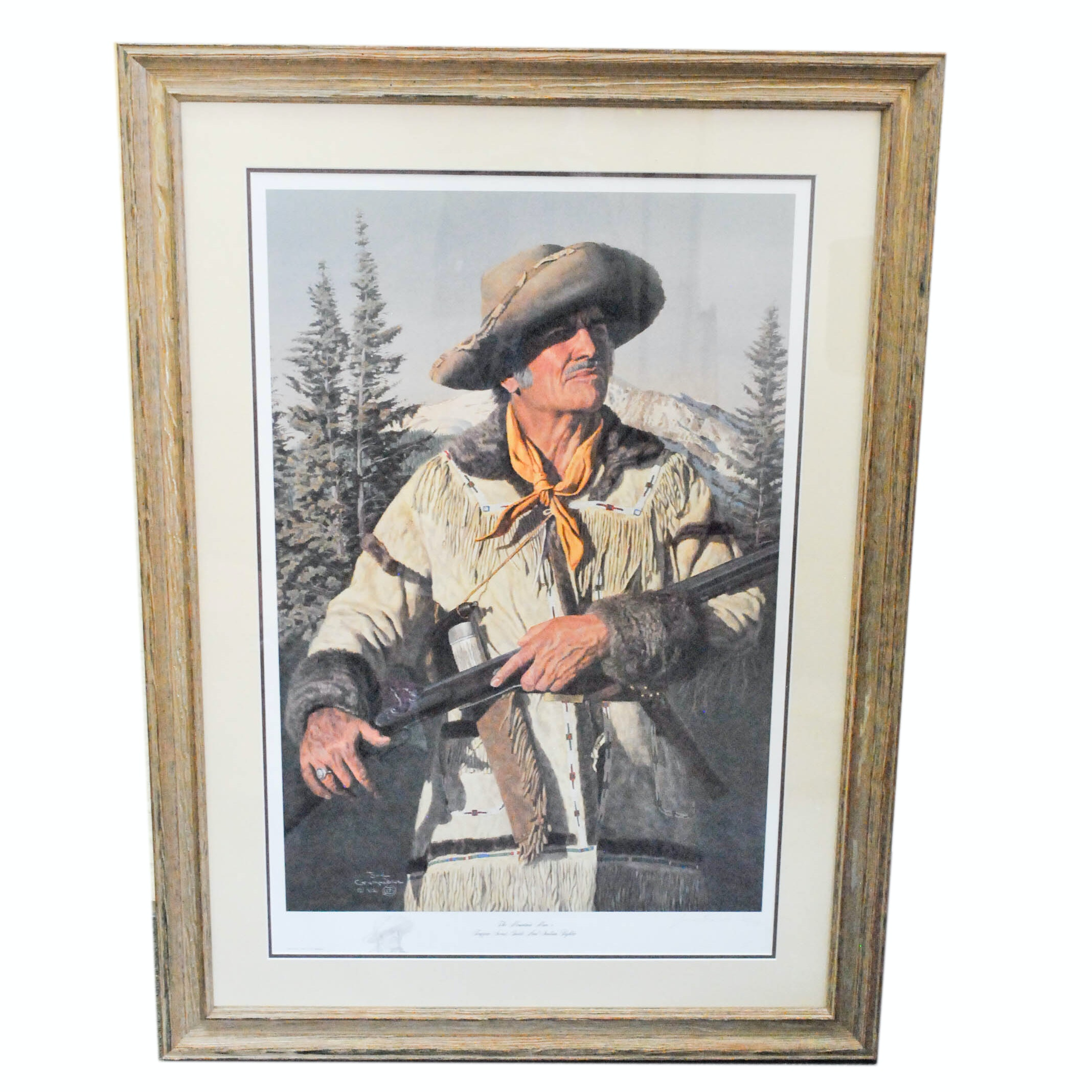 "After Joe Grandee Offset Lithograph ""The Mountain Man"" Print"