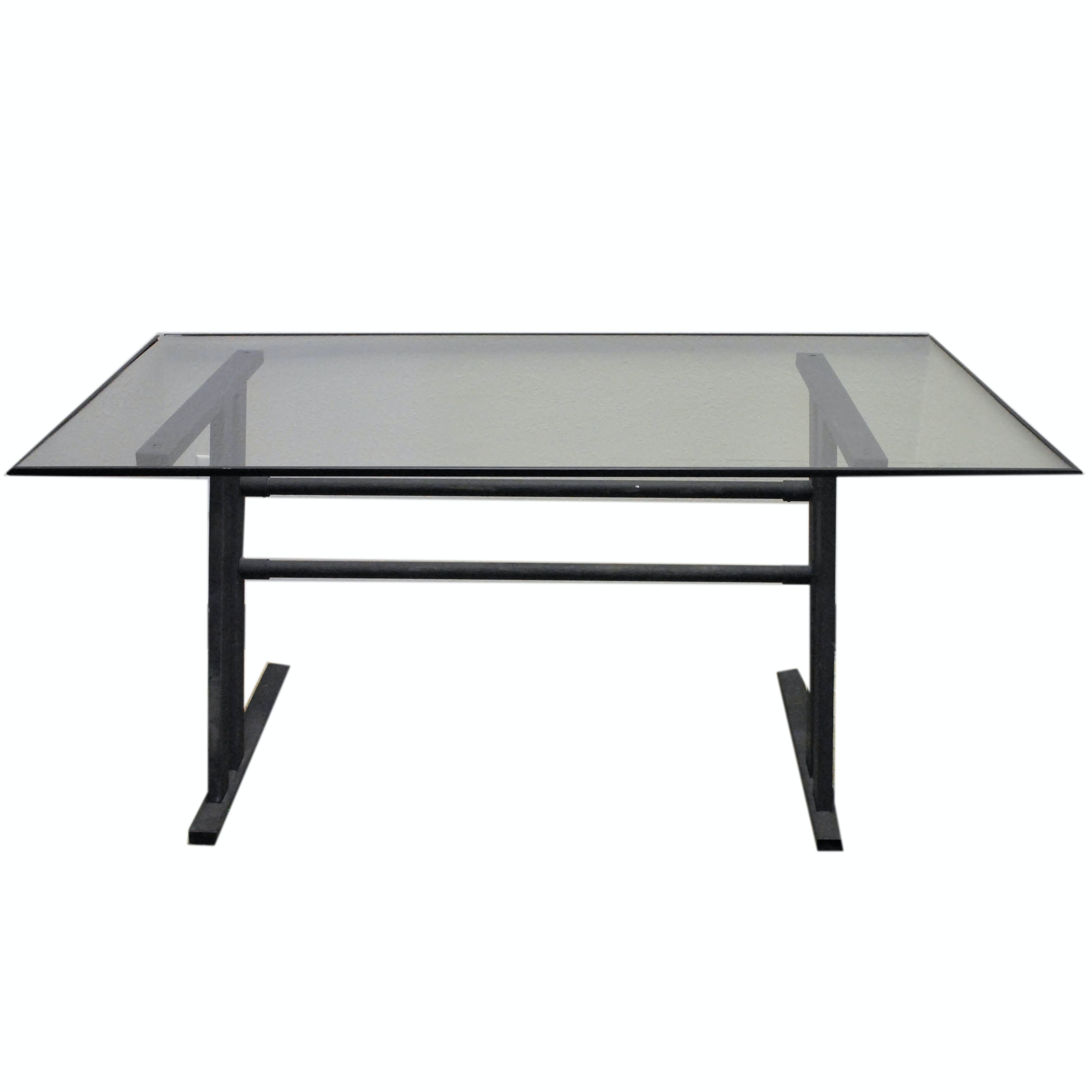 Contemporary Glass Top Drafting Table
