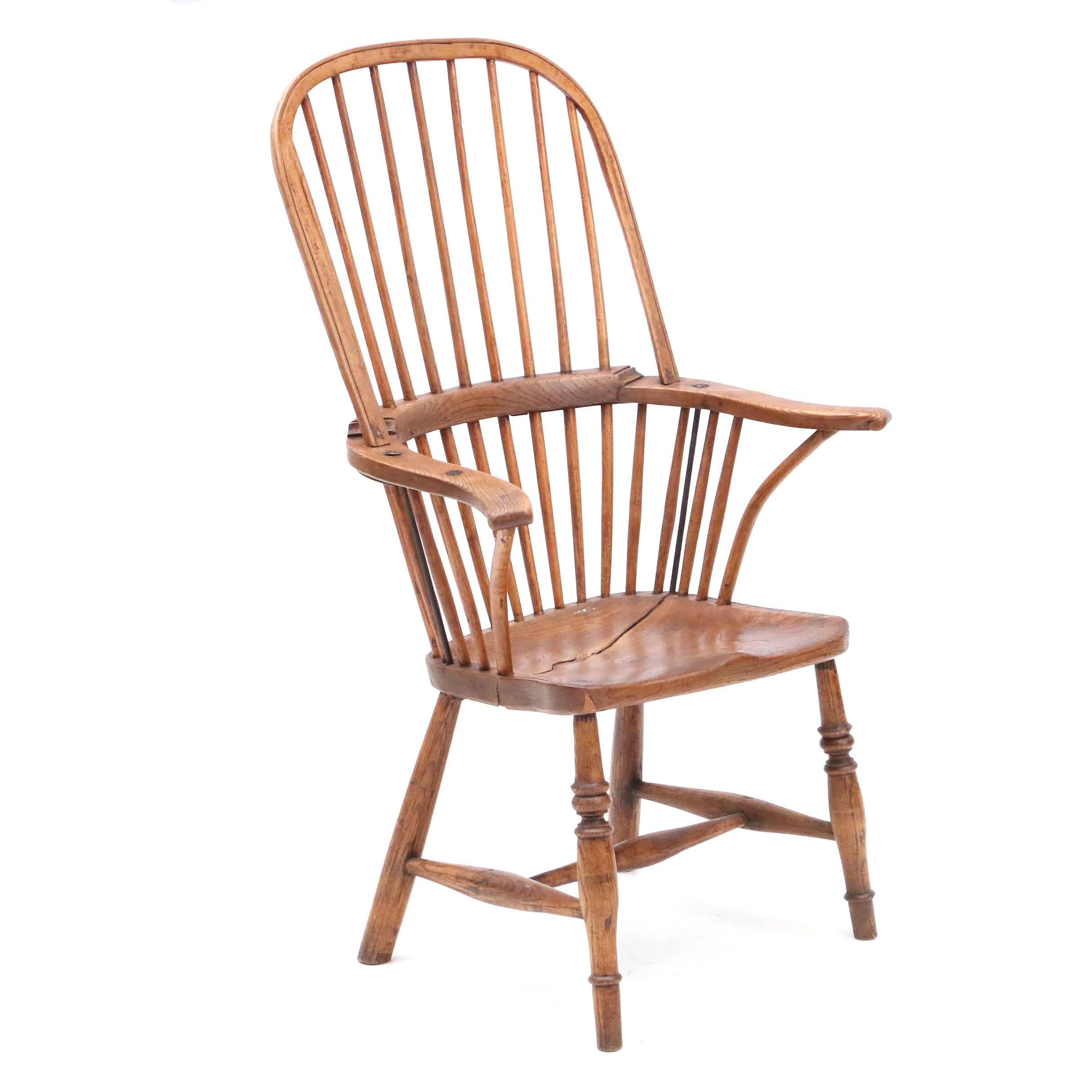 Antique Windsor Style Arm Chair