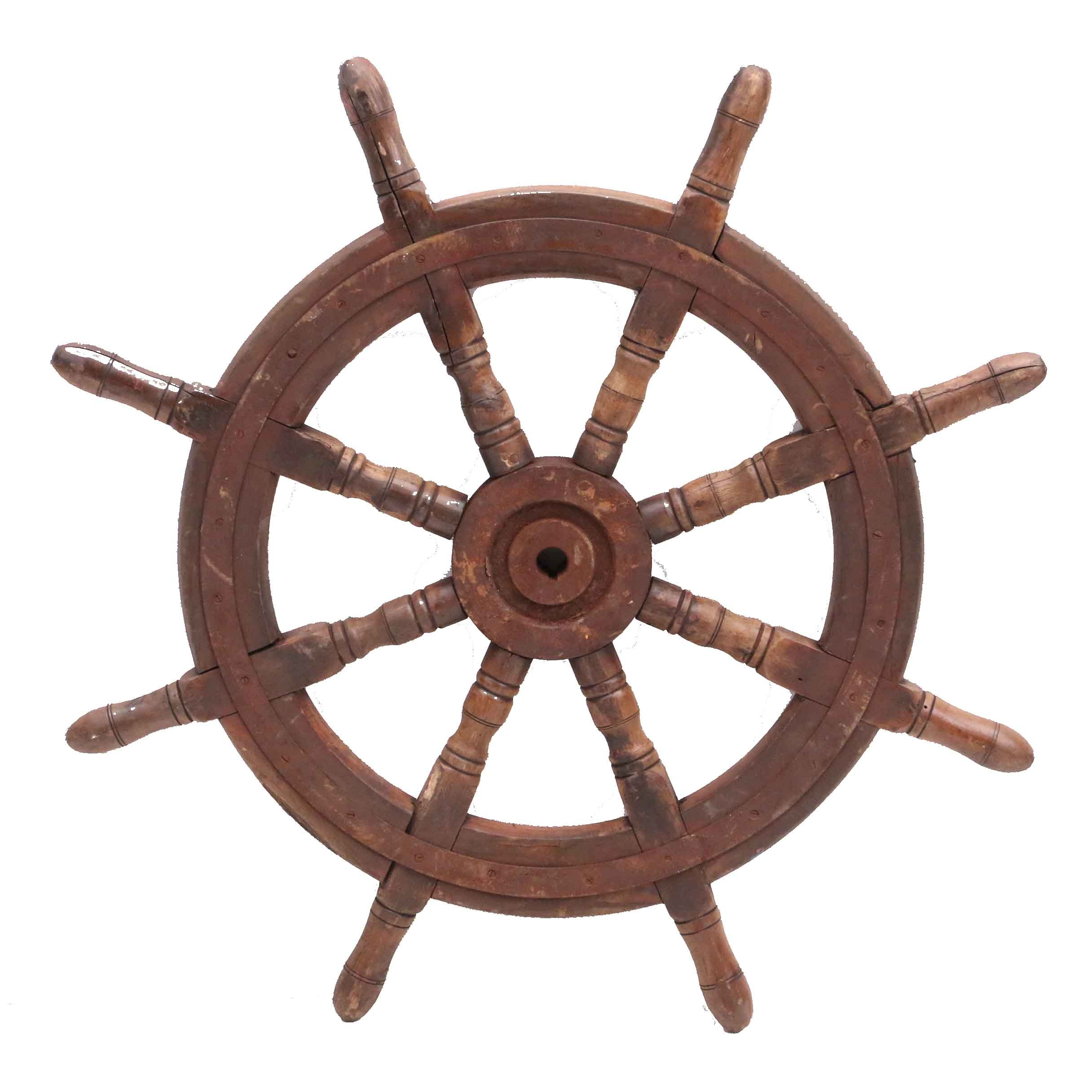 Wood and Steel Captain's Wheel