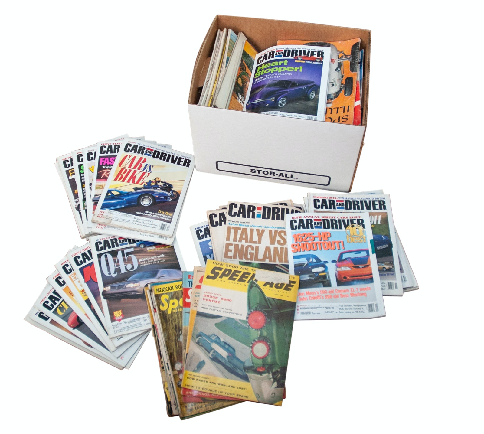 "Auto Racing Magazines Including ""Sports Illustrated"" and ""Car and Driver"""