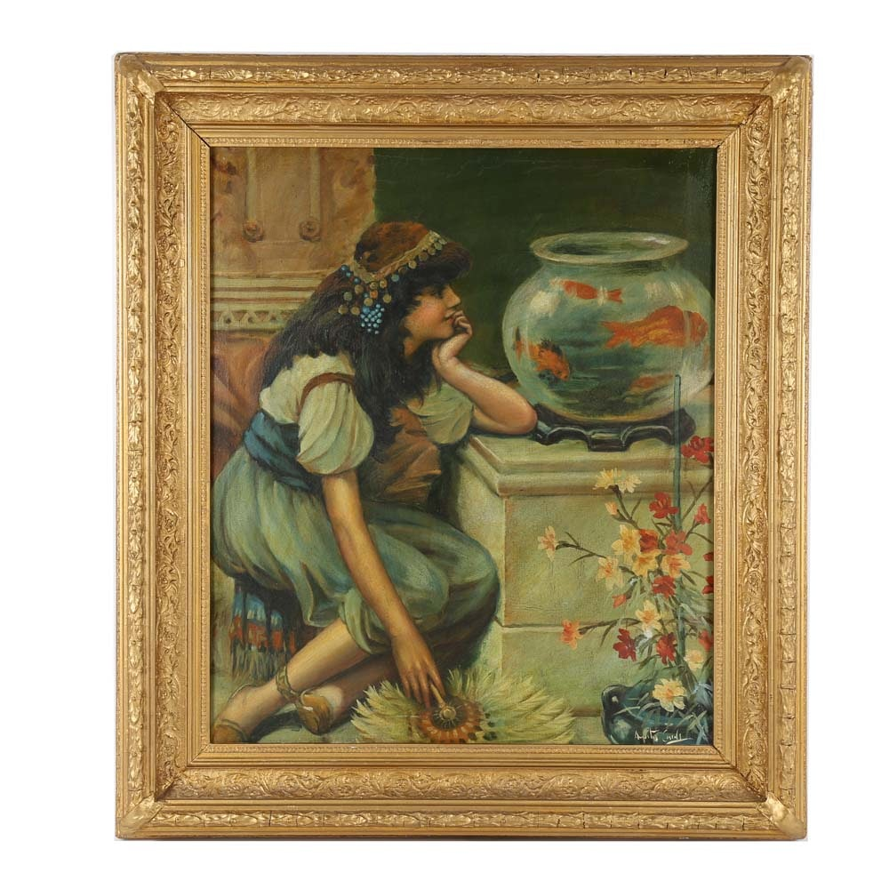 August Carrell Oil Painting on Canvas