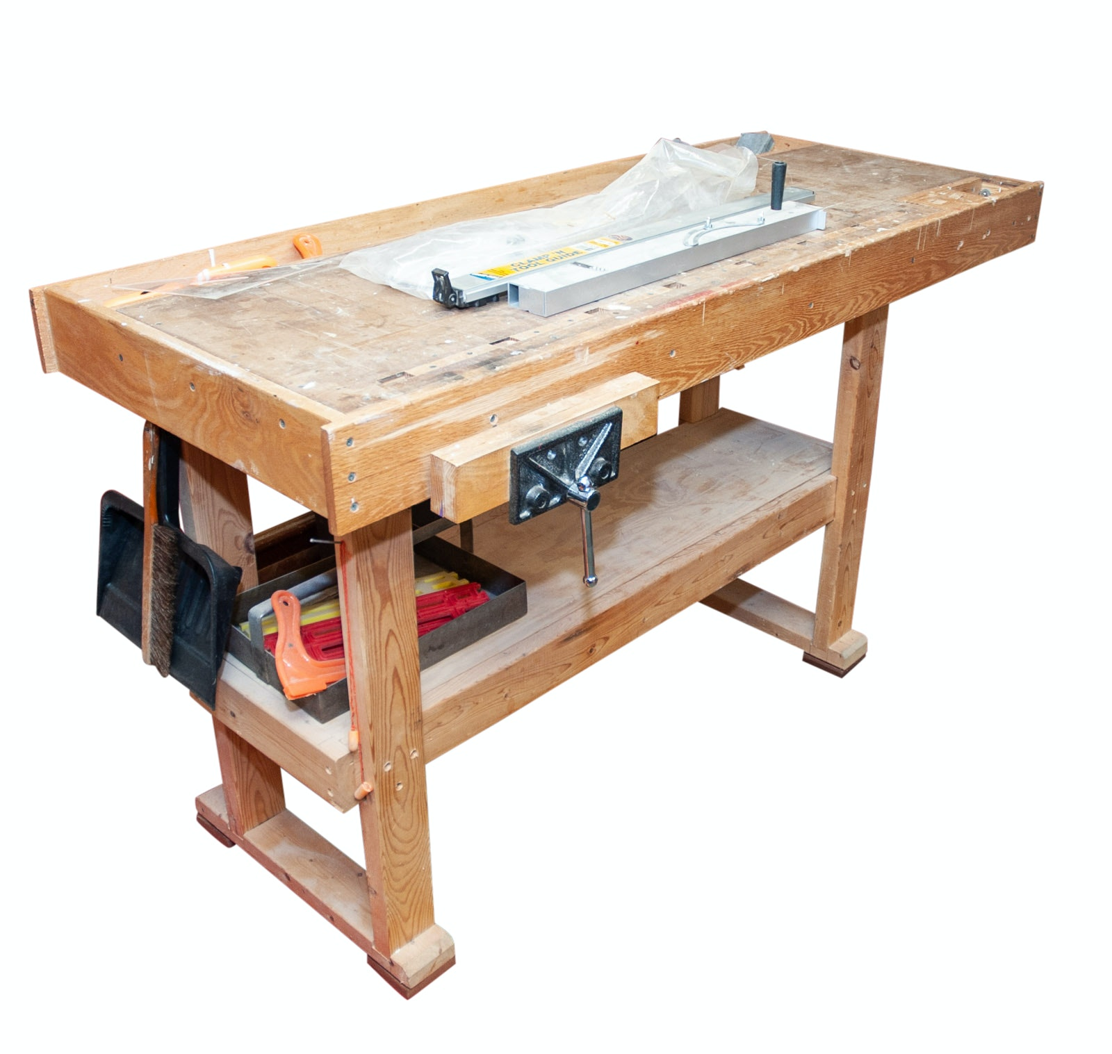 Wood Working Bench with Vices