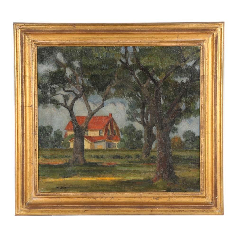 Walter Jensen Oil Painting on Canvas