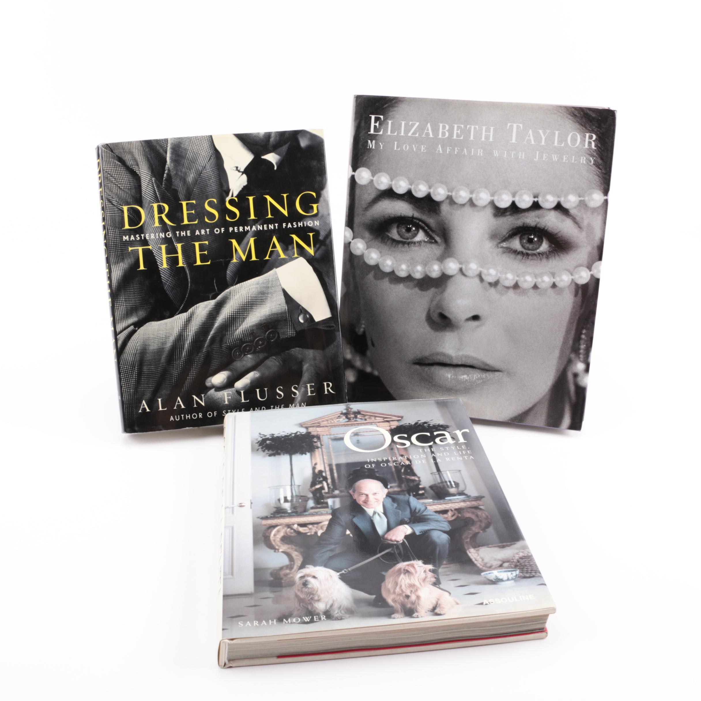 Fashion Books including Elizabeth Taylor and Oscar de la Renta