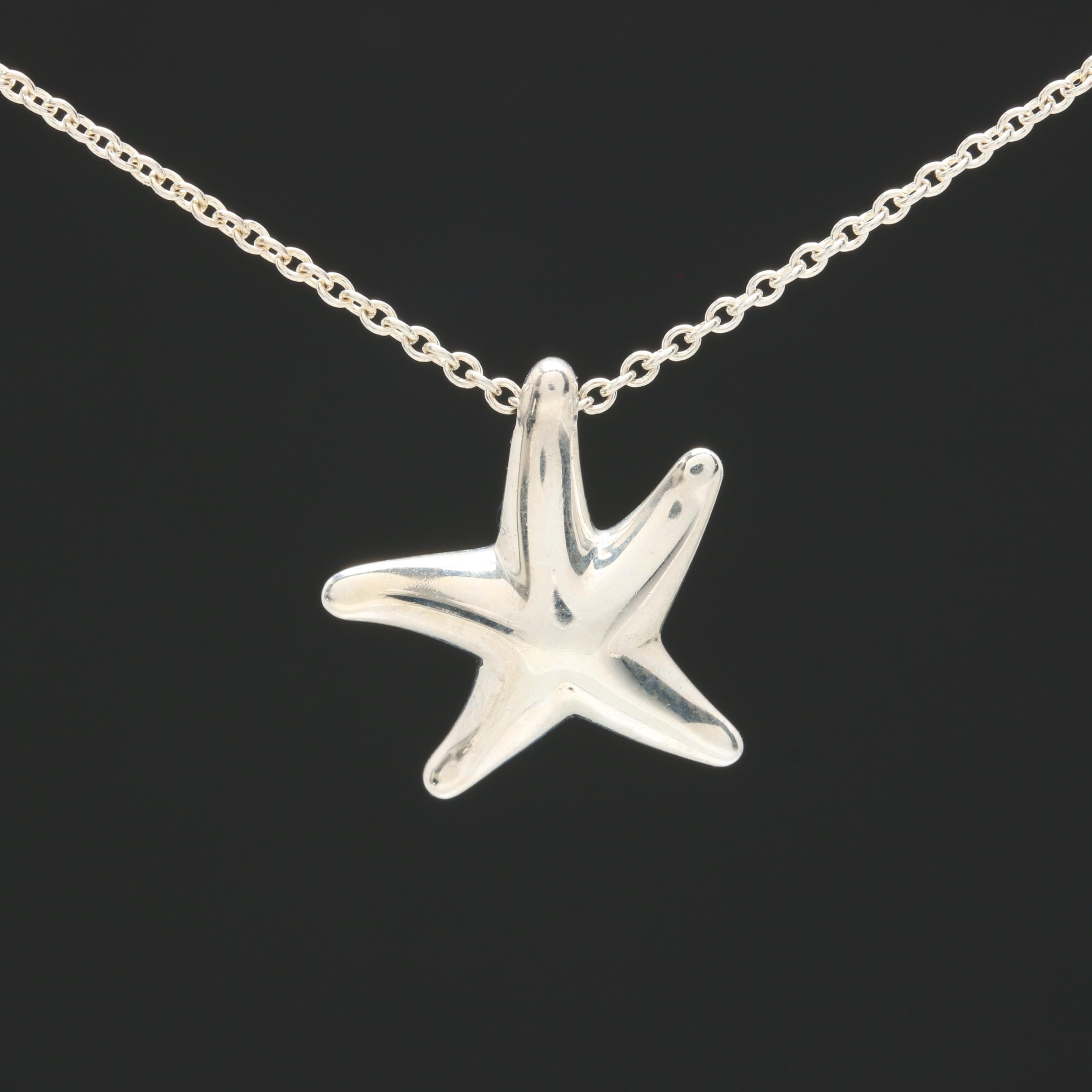 Elsa Peretti for Tiffany & Co. Sterling Silver Starfish Pendant Necklace