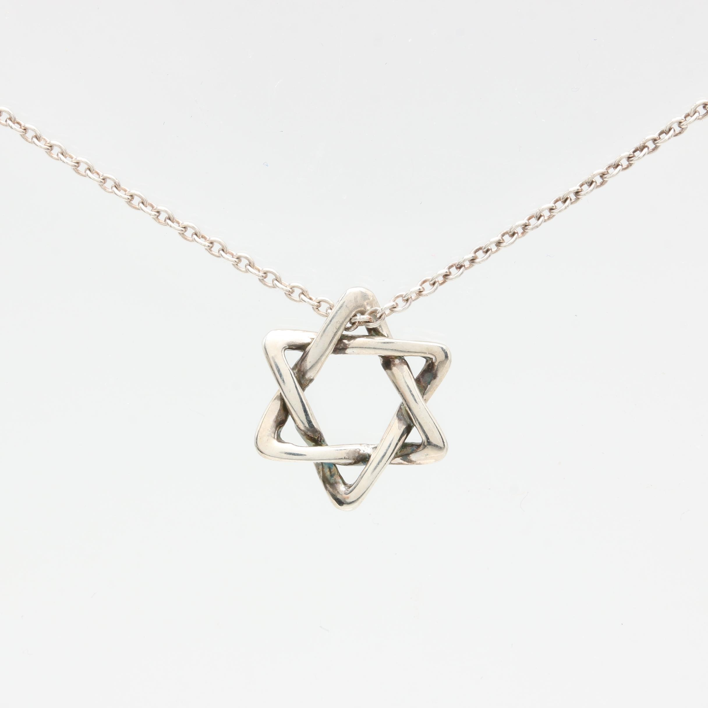 Elsa Peretti for Tiffany & Co. Sterling Silver Star of David Pendant Necklace