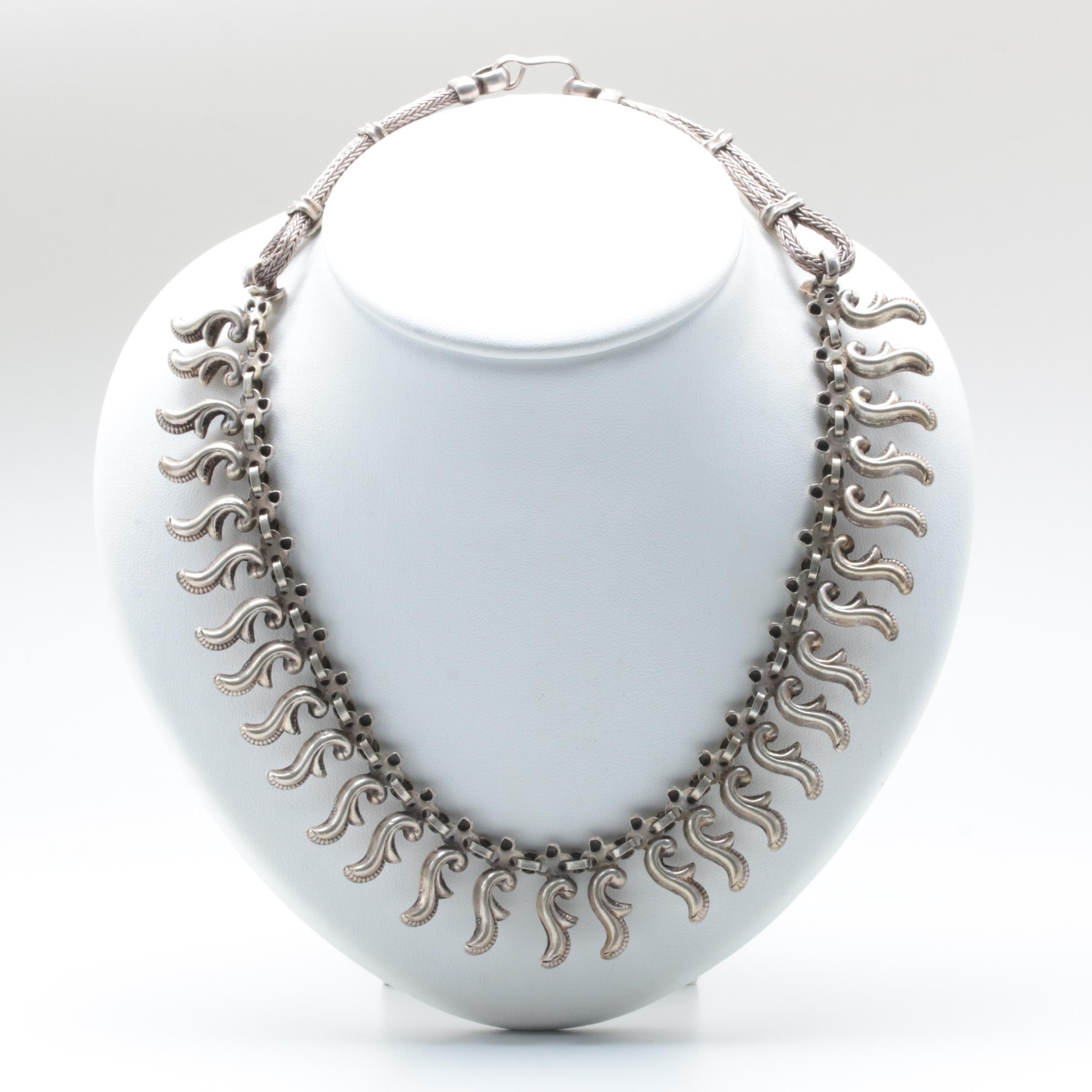 Sterling Silver Collar Style Necklace
