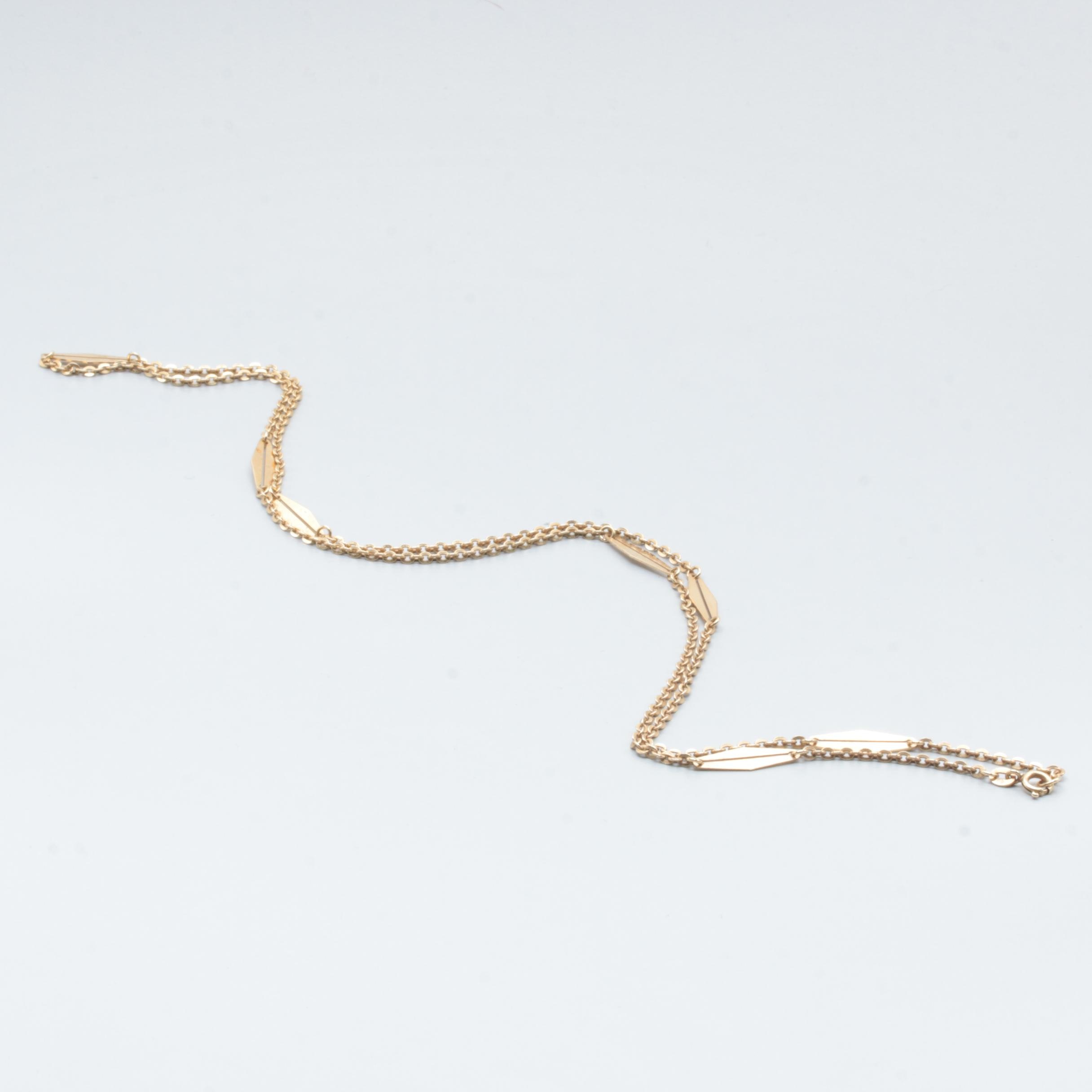 18K Yellow Gold Custom Link Necklace