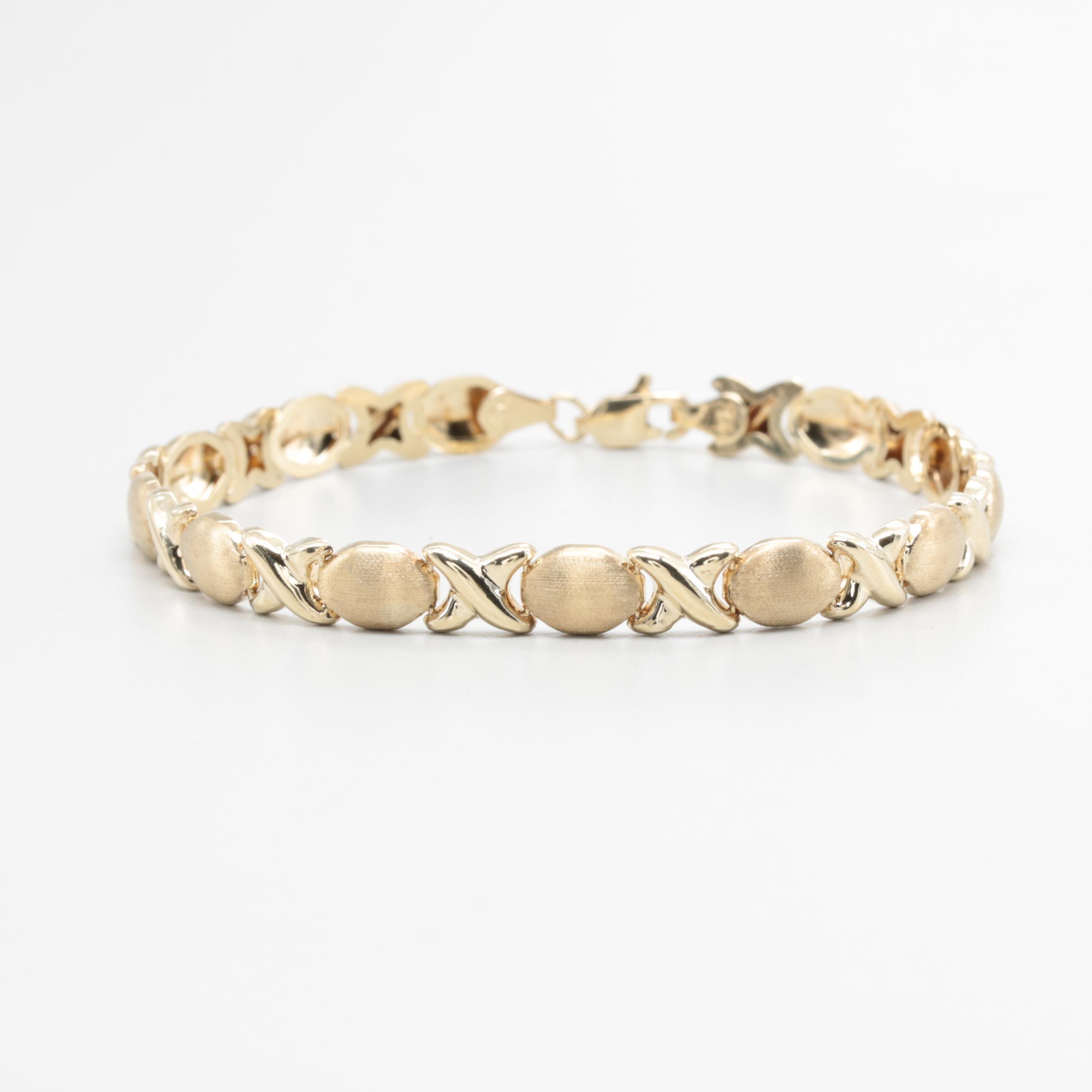 10K Yellow Gold Link Bracelet