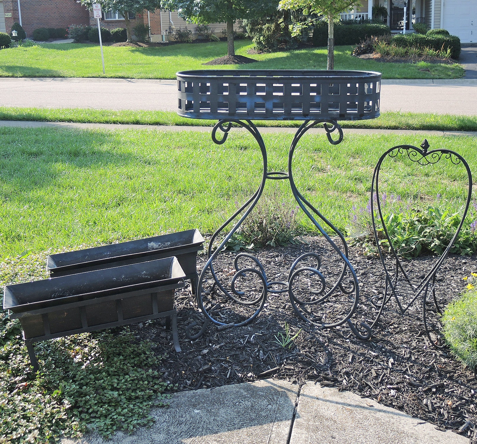 Wrought Iron Plant Stand and More