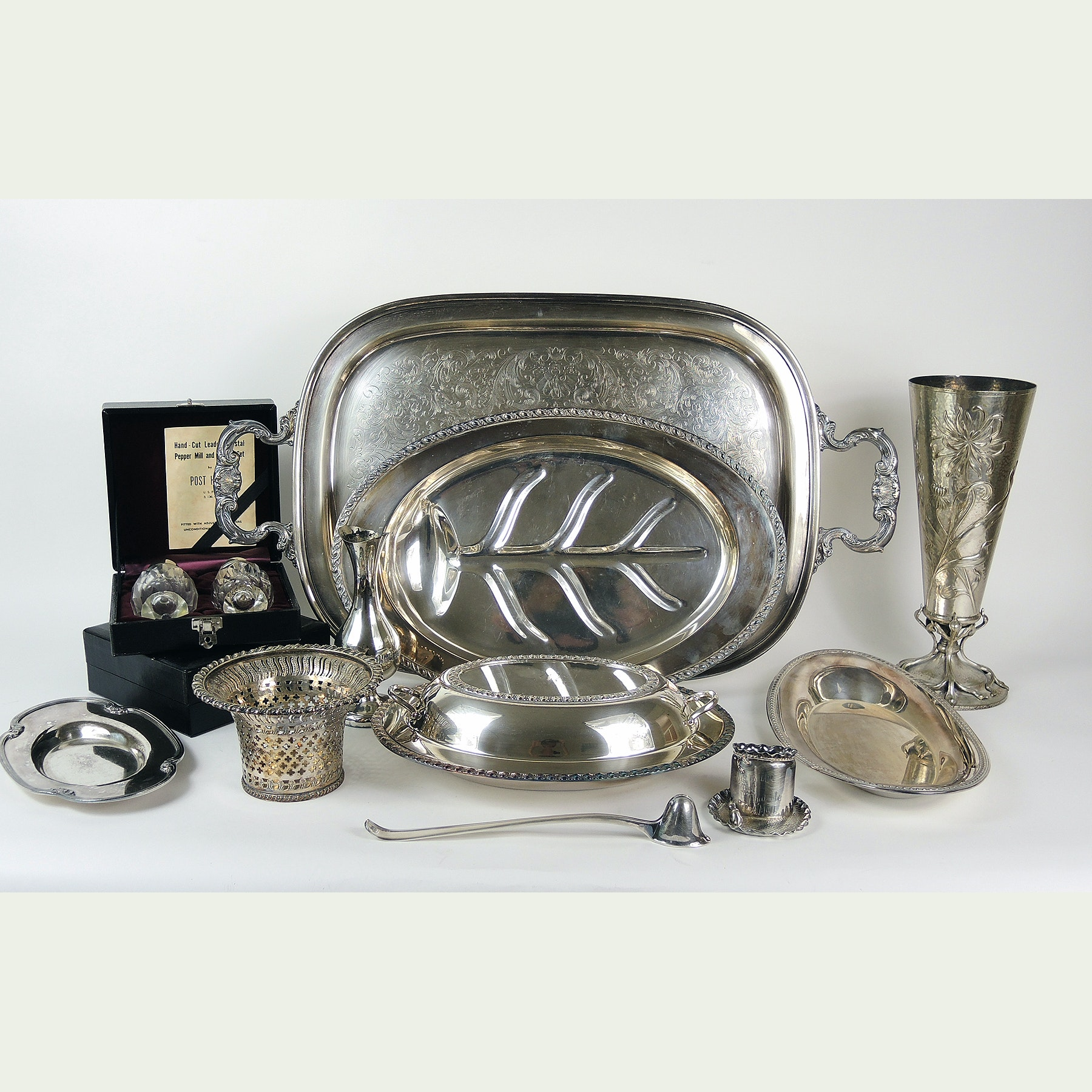 Gorham Tray, Silver Plated Tableware and Decor