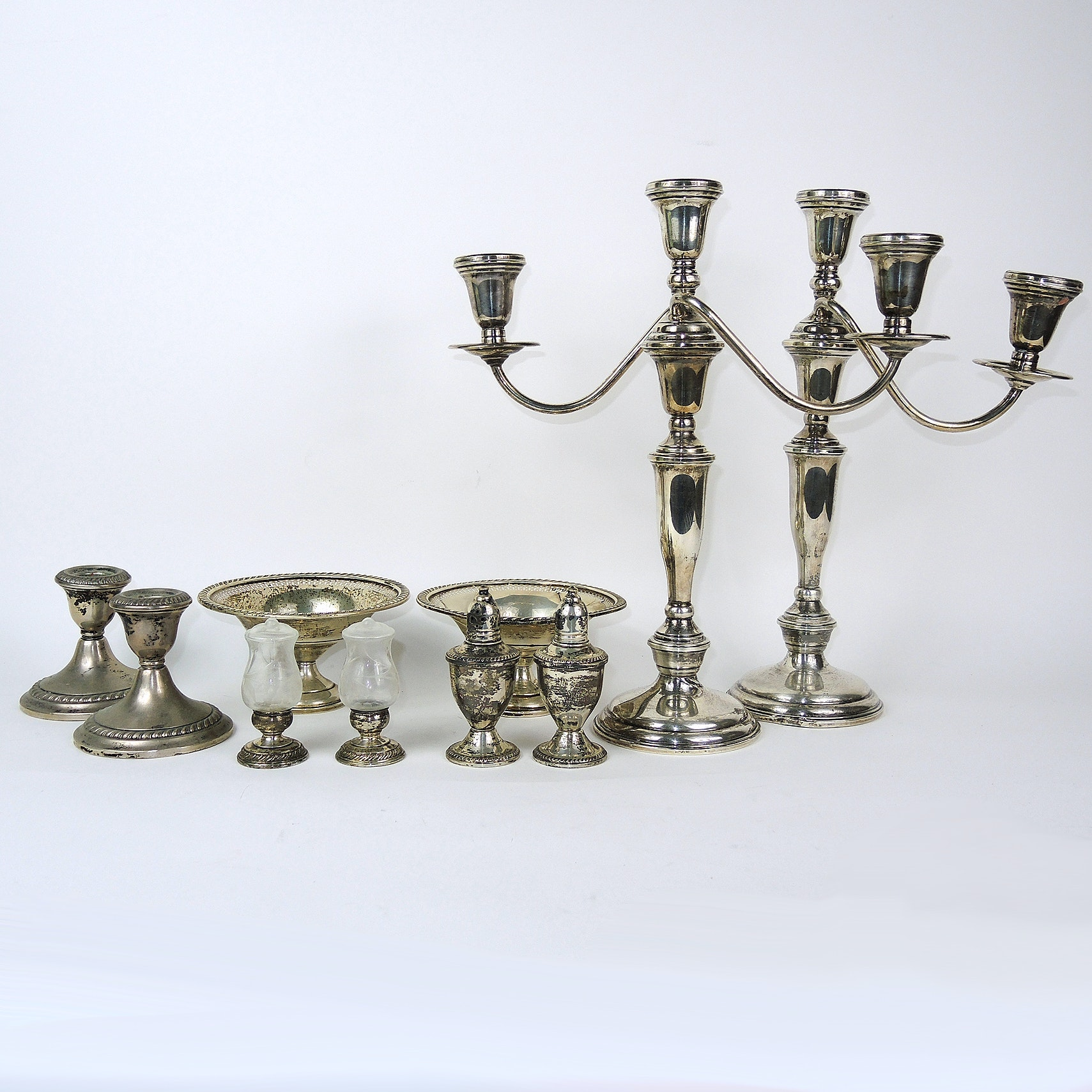Sterling Silver Weighted Tableware and Candleholders