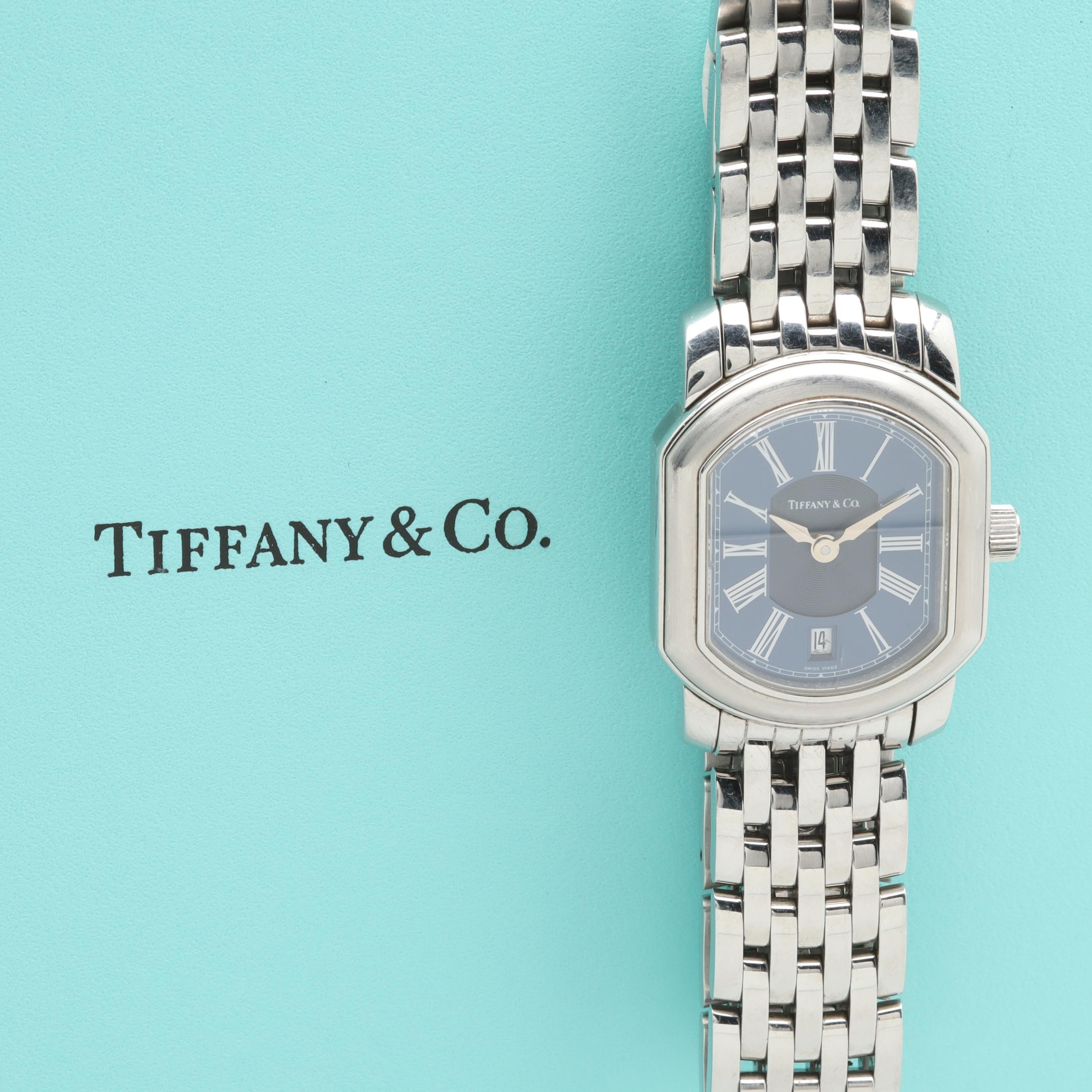 Tiffany & Co. Stainless Steel Swiss Made Wristwatch