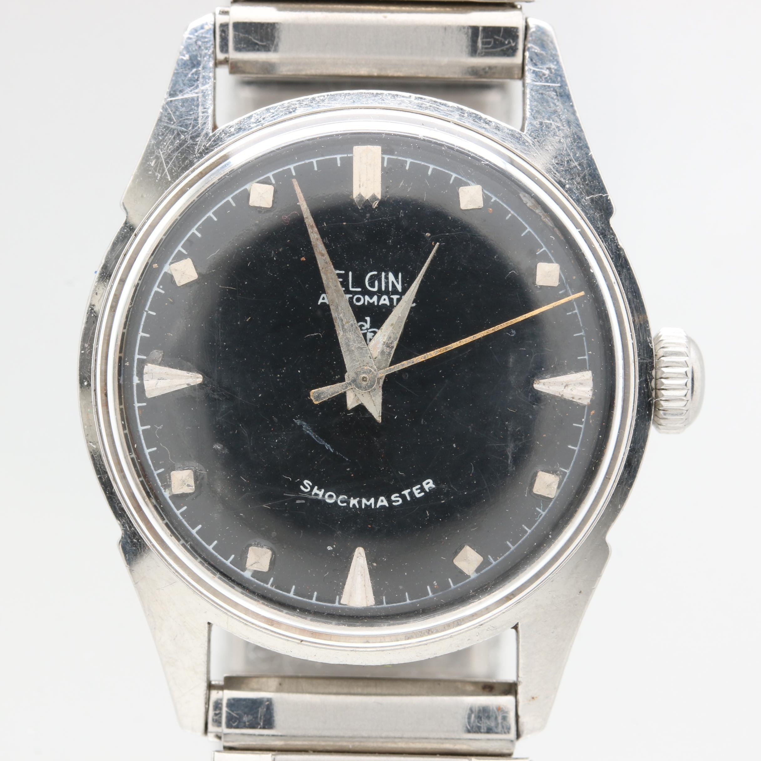 Elgin Automatic Shockmaster Stainless Steel Wristwatch