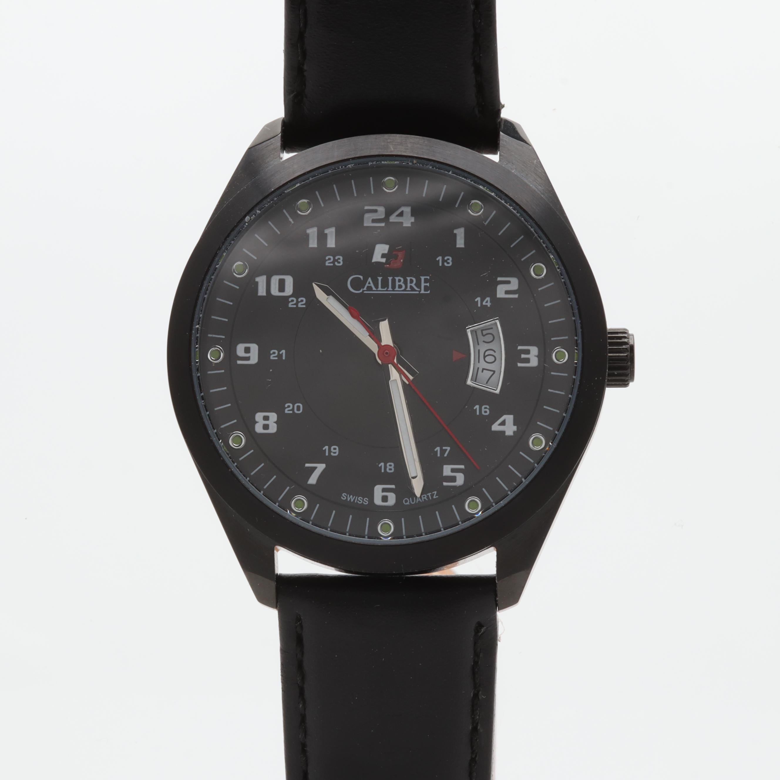 Calibre Stainless Steel and Leather Analog Wristwatch