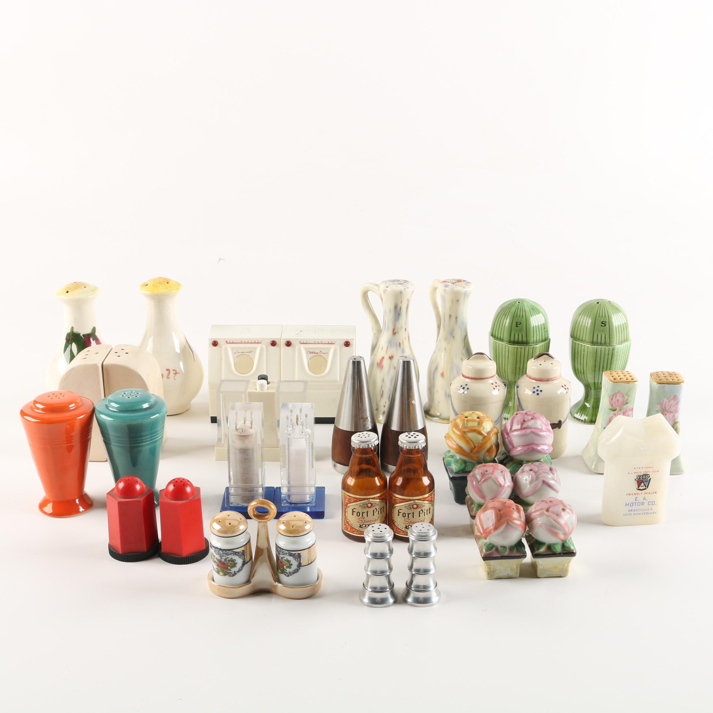 Mid Century Salt & Pepper Shakers including Danish Modern and Figurative