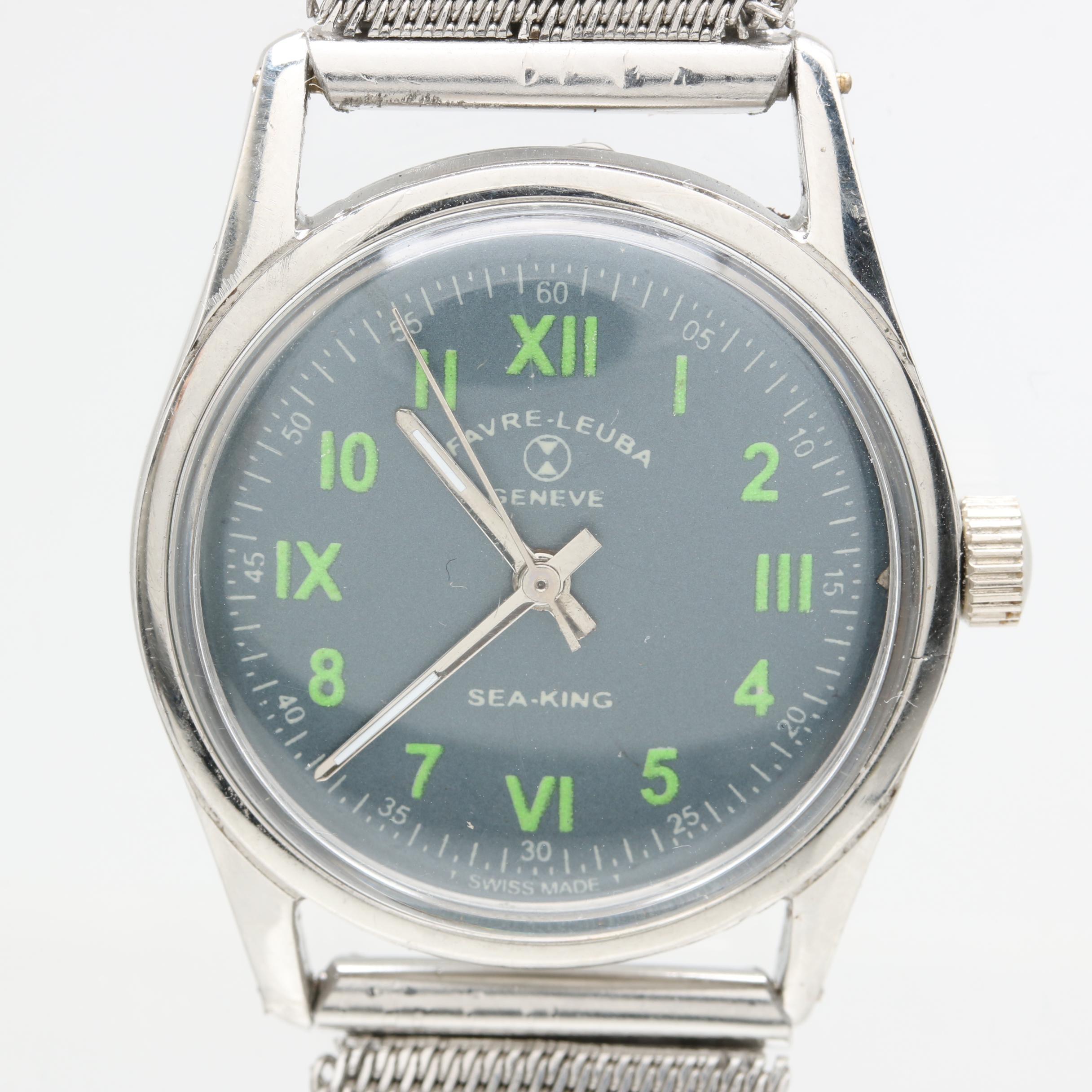 Favre-Leuba Stainless Steel Wristwatch