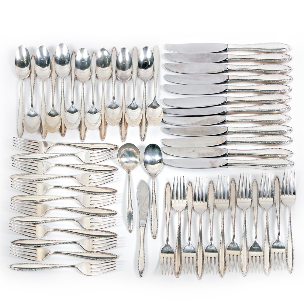 "Wallace Silversmiths ""Michele"" Sterling Silver Flatware Collection"