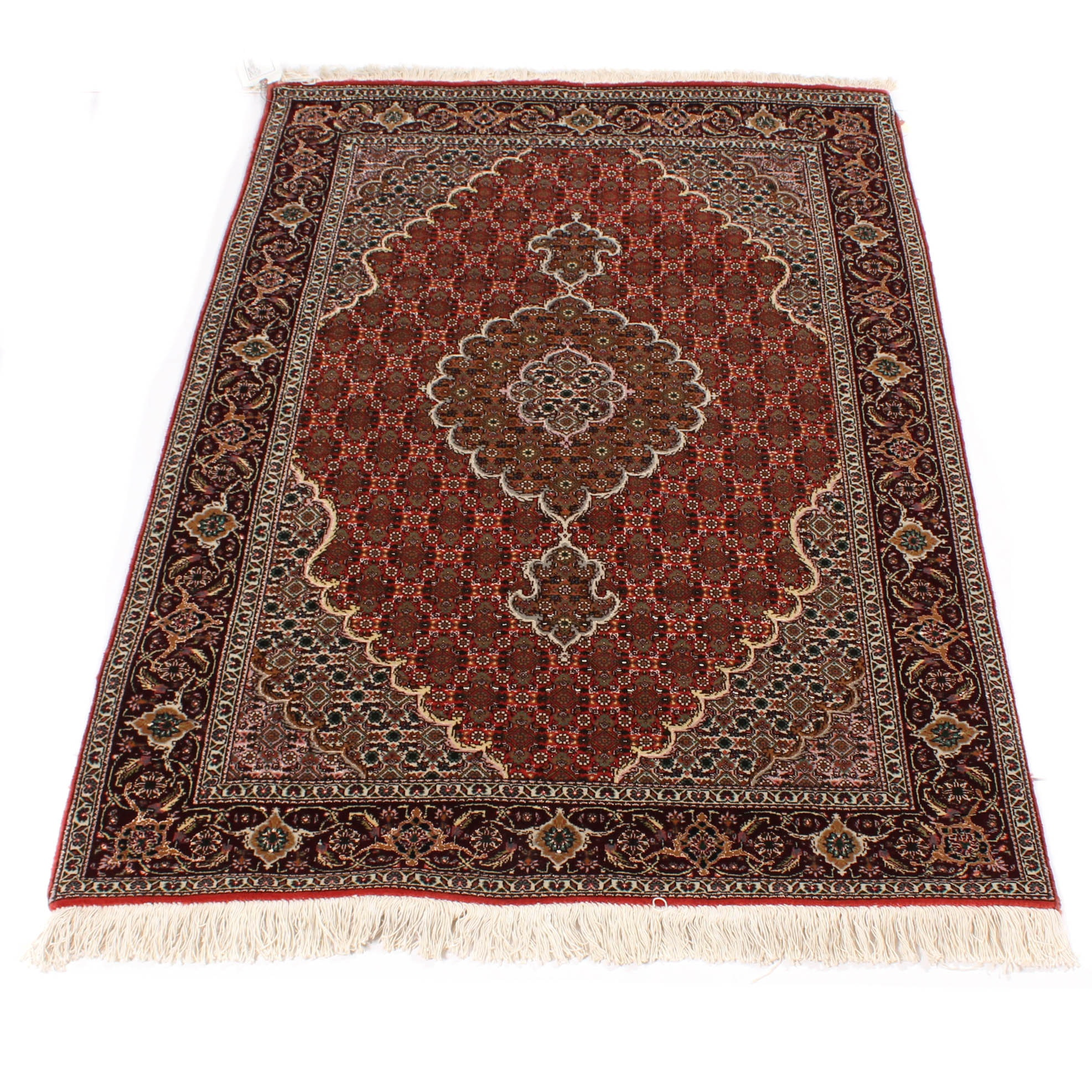 Hand-Knotted Persian Mashayekhi Wool Area Rug