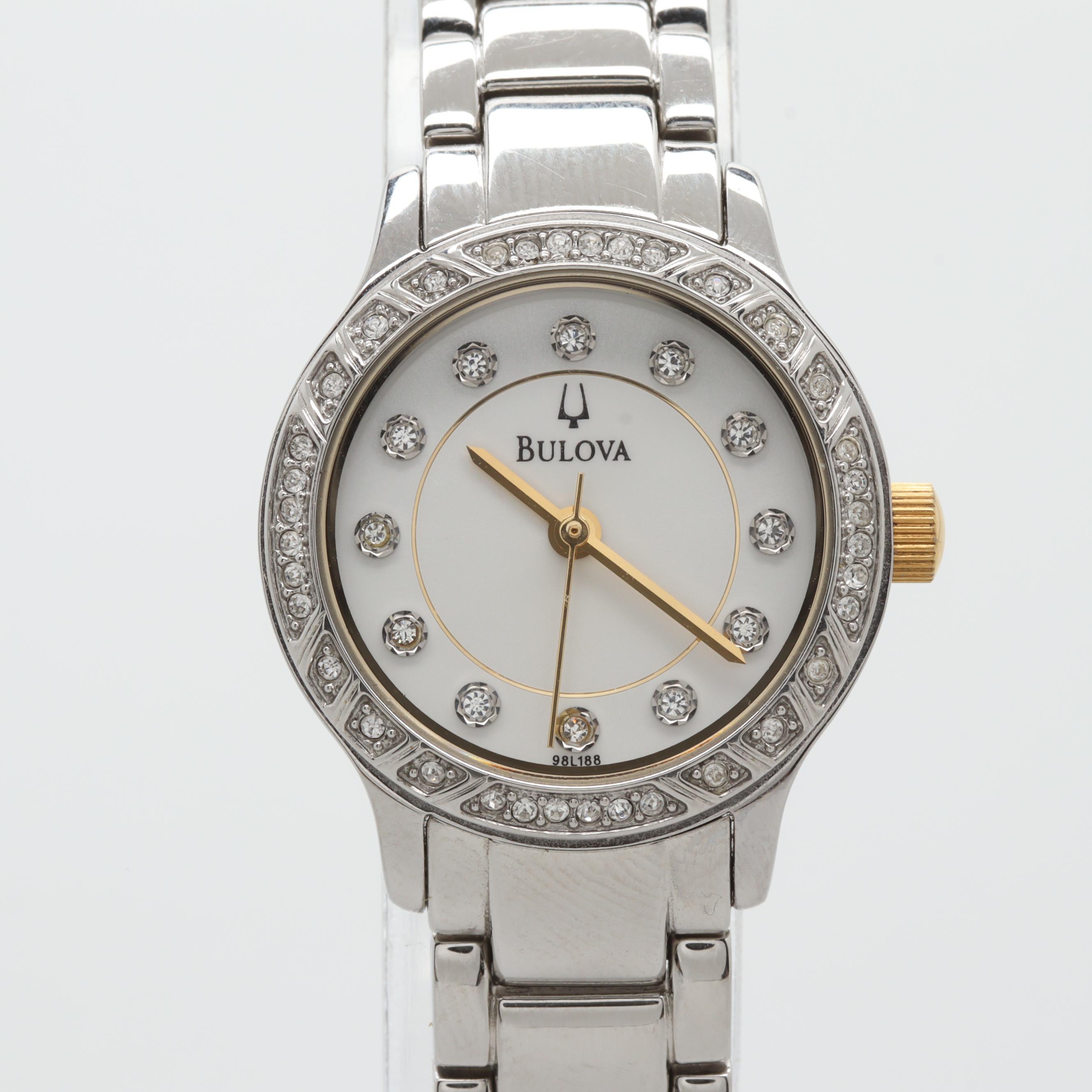 Bulova Stainless Steel Wristwatch