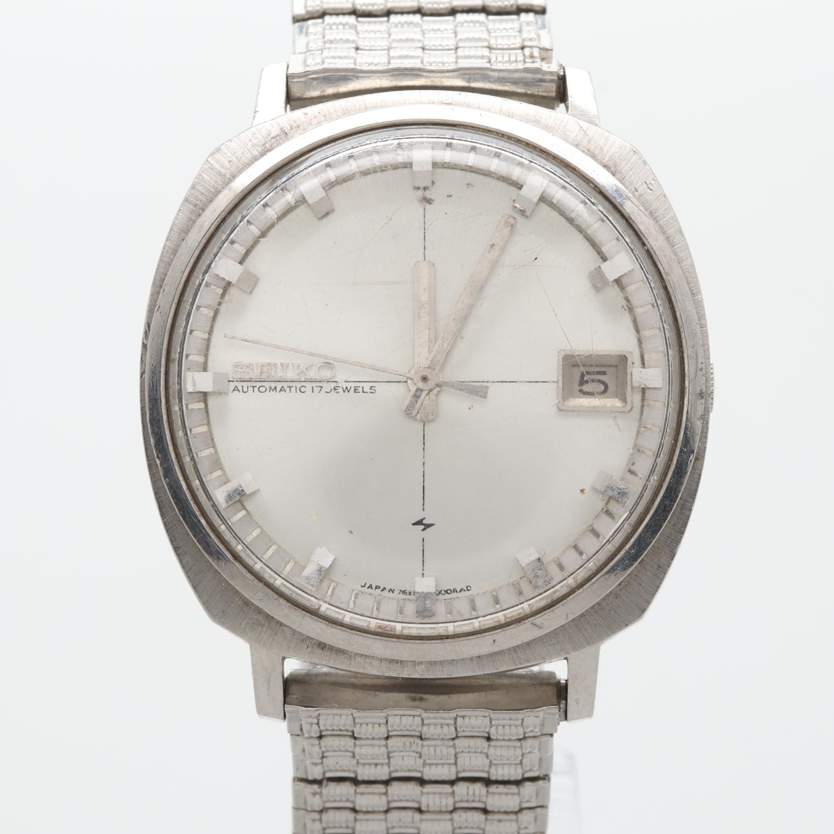 Seiko Automatic Stainless Steel Wristwatch