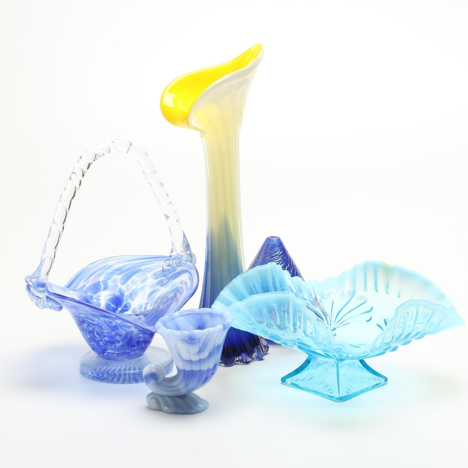 Decorative Glassware in Shades of Blue