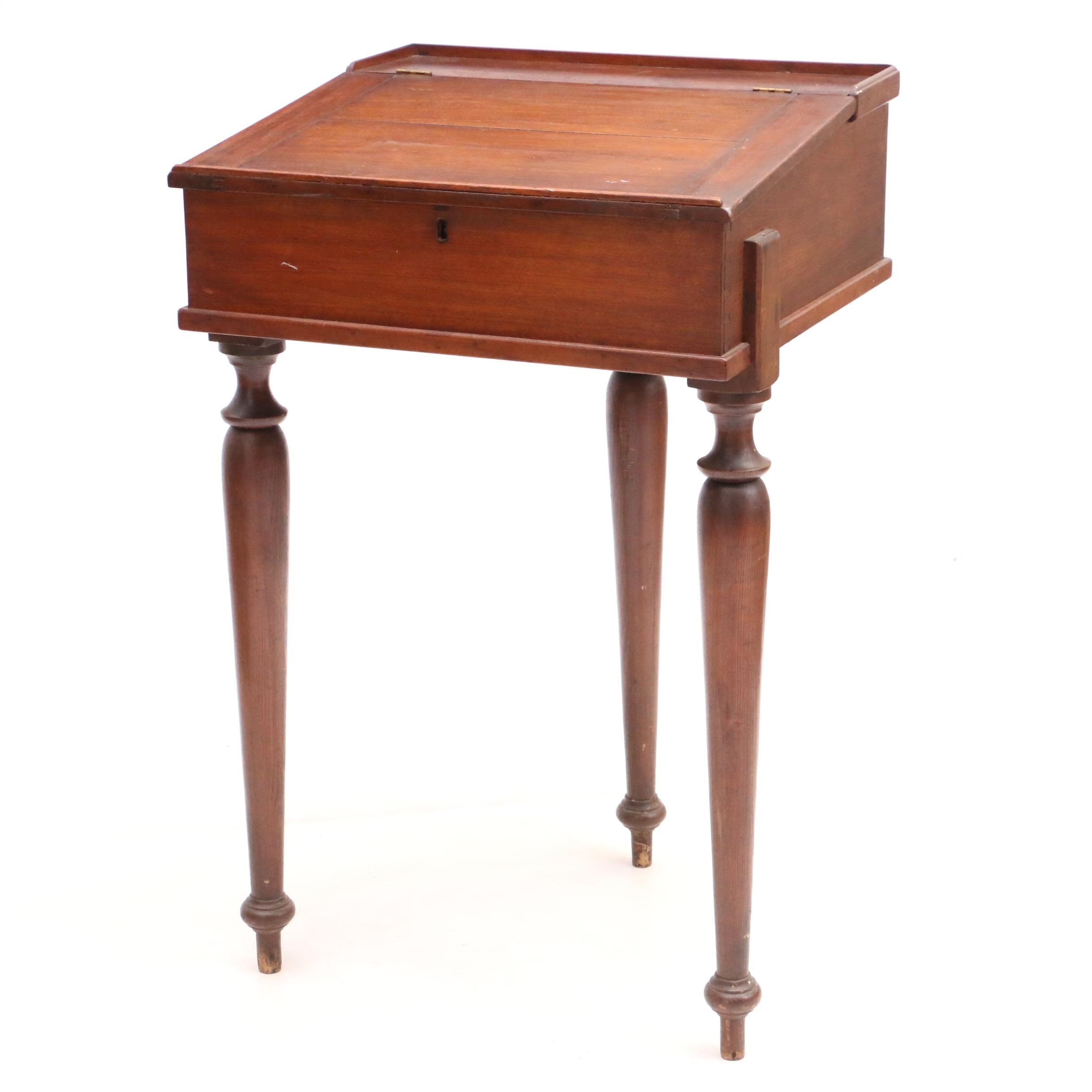 Vintage Walnut Mercantile Desk
