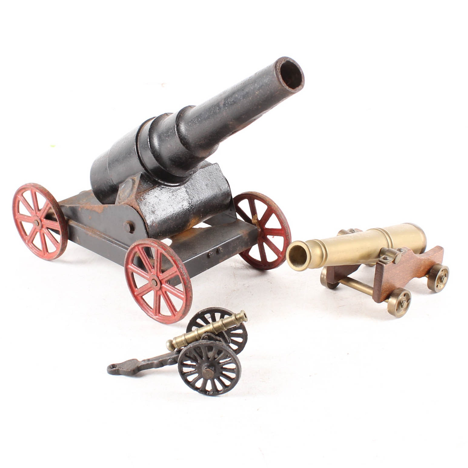 Iron and Brass Reproduction Cannons