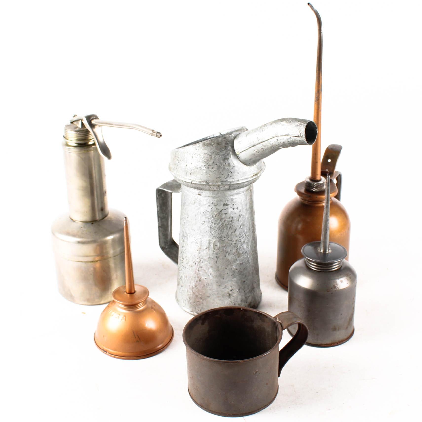 Vintage Metal Oil Cans