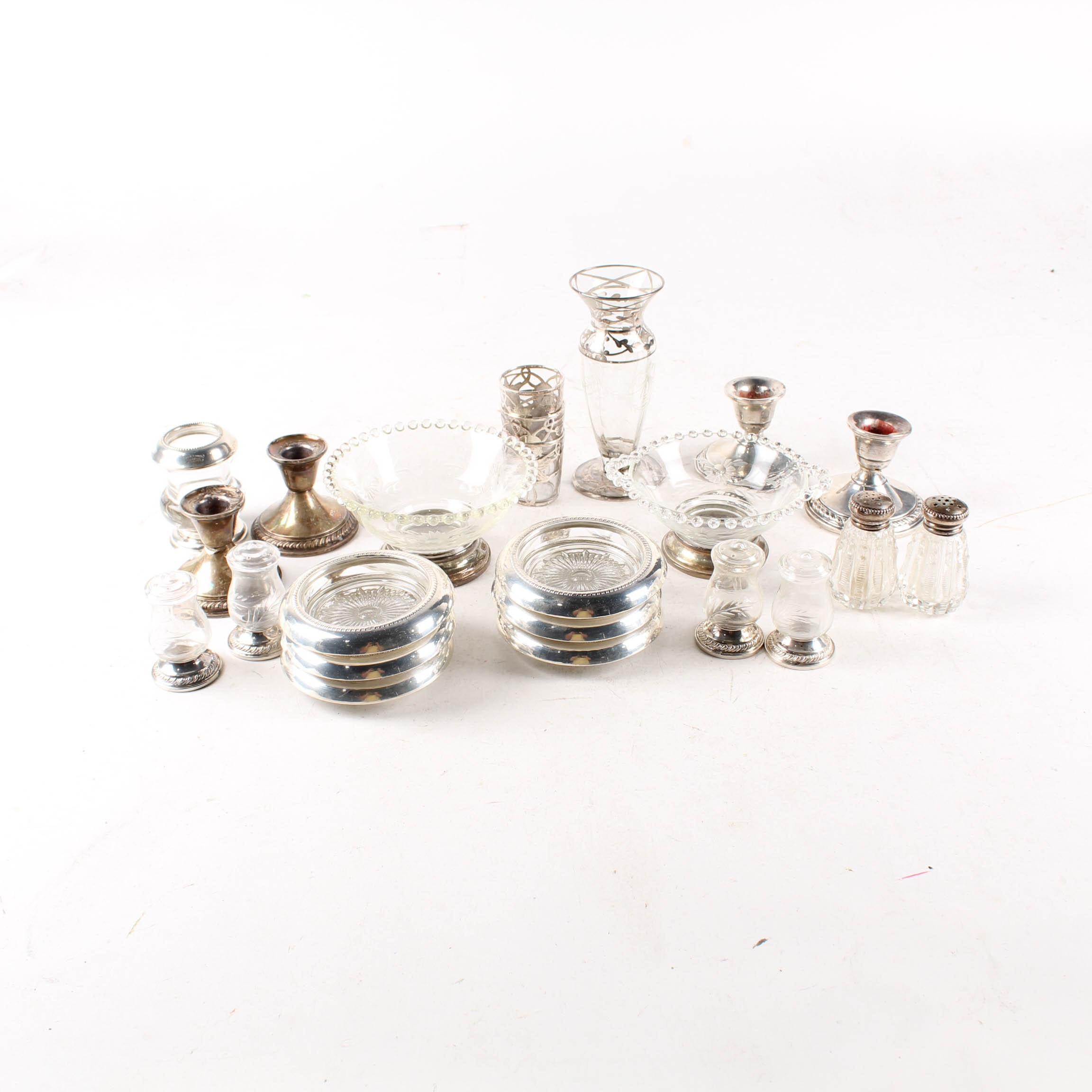 Weighted Sterling Silver and Silver Overlay Tableware