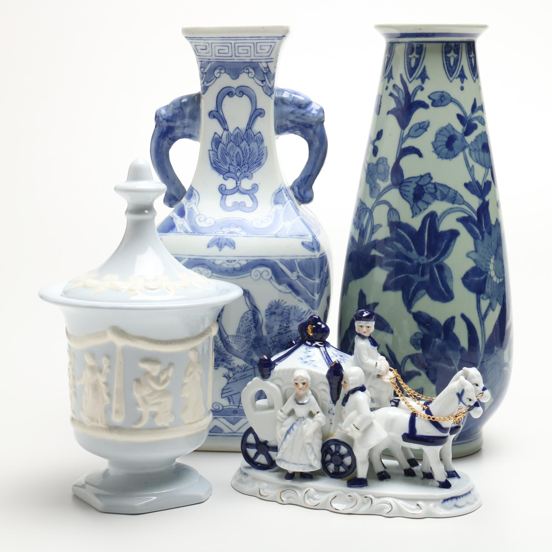 Blue and White Porcelain and Pottery
