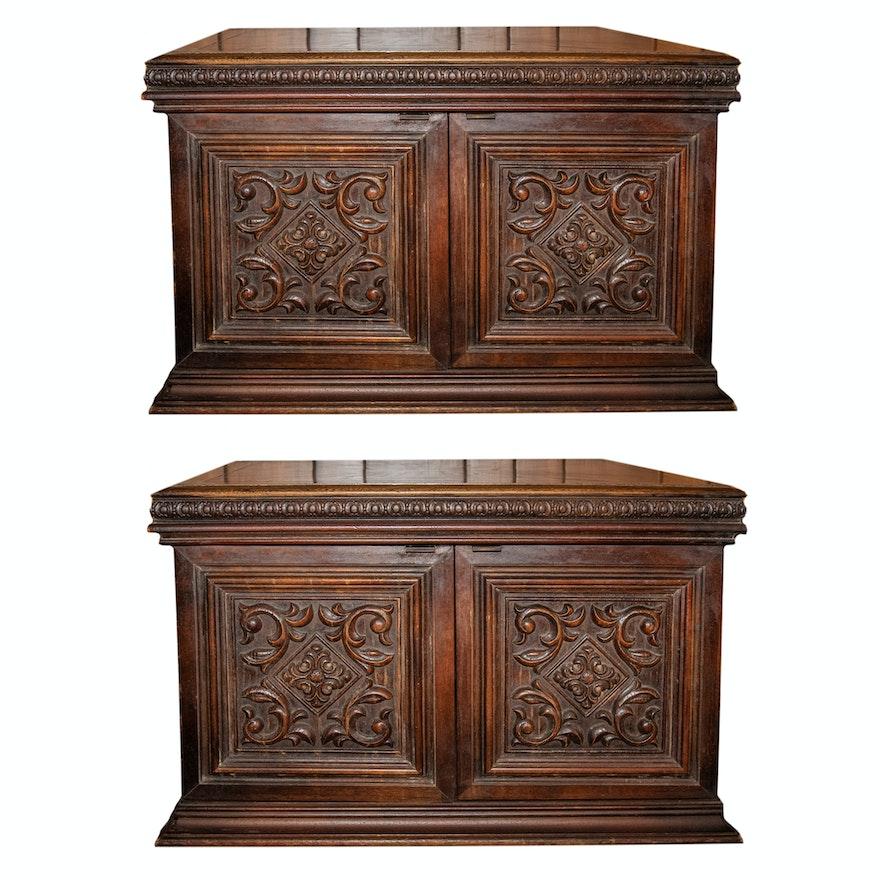 Vintage Oak Side Tables by Lane Furniture ... - Vintage Oak Side Tables By Lane Furniture