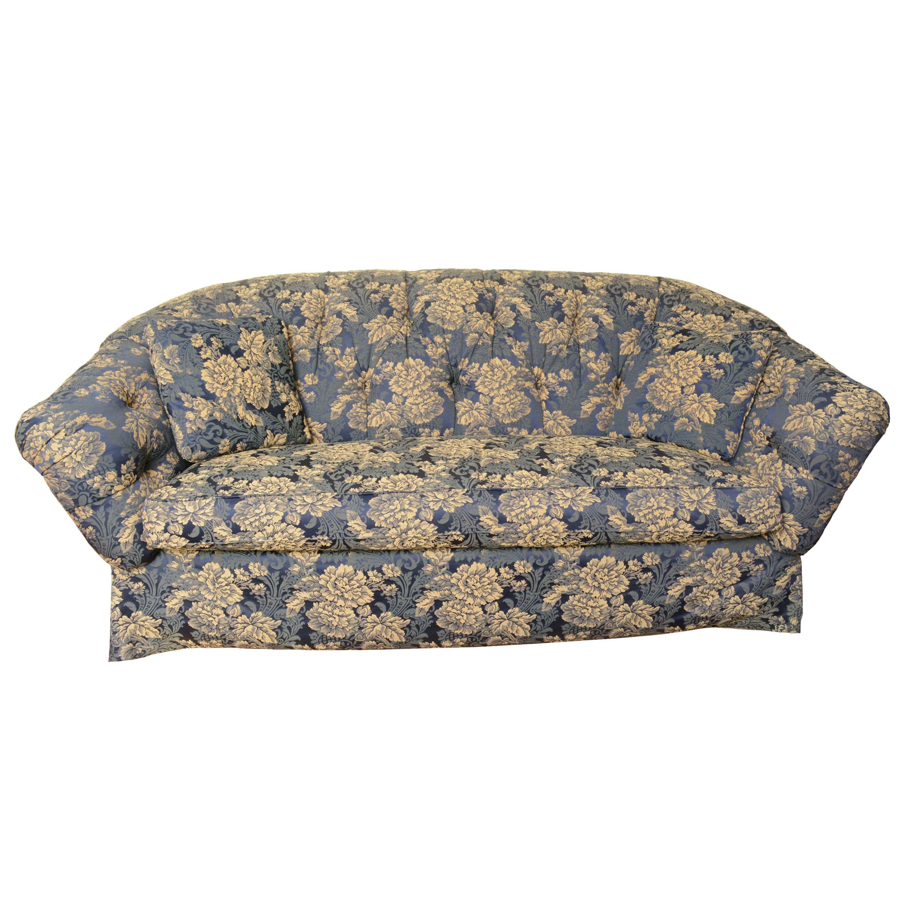 Floral Upholstered Sofa by Frederick Edward