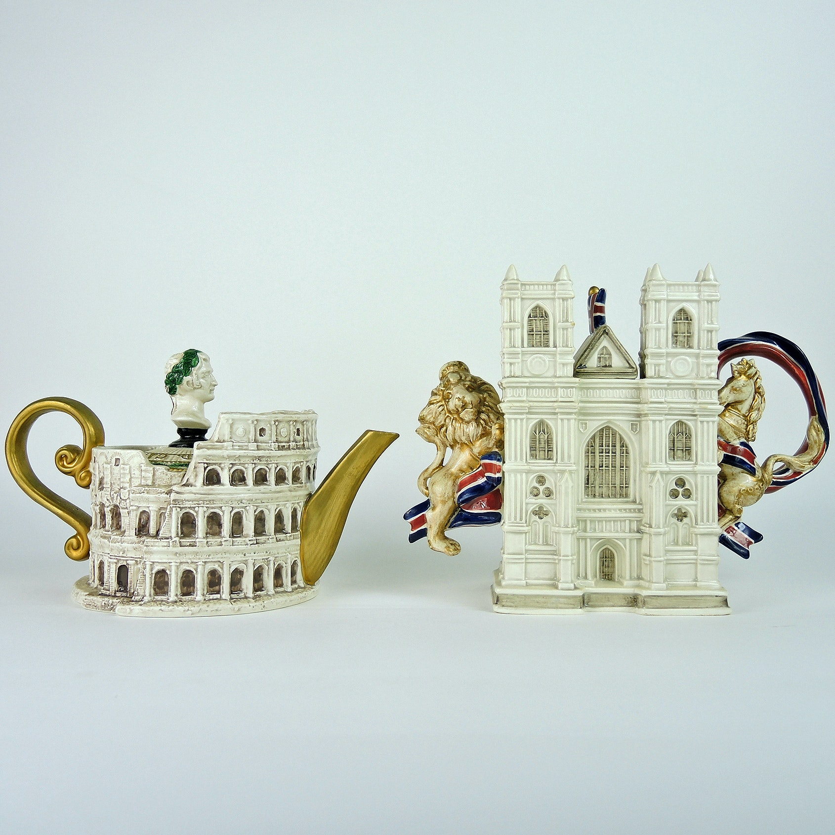 Fitz and Floyd Collector's Series Teapots