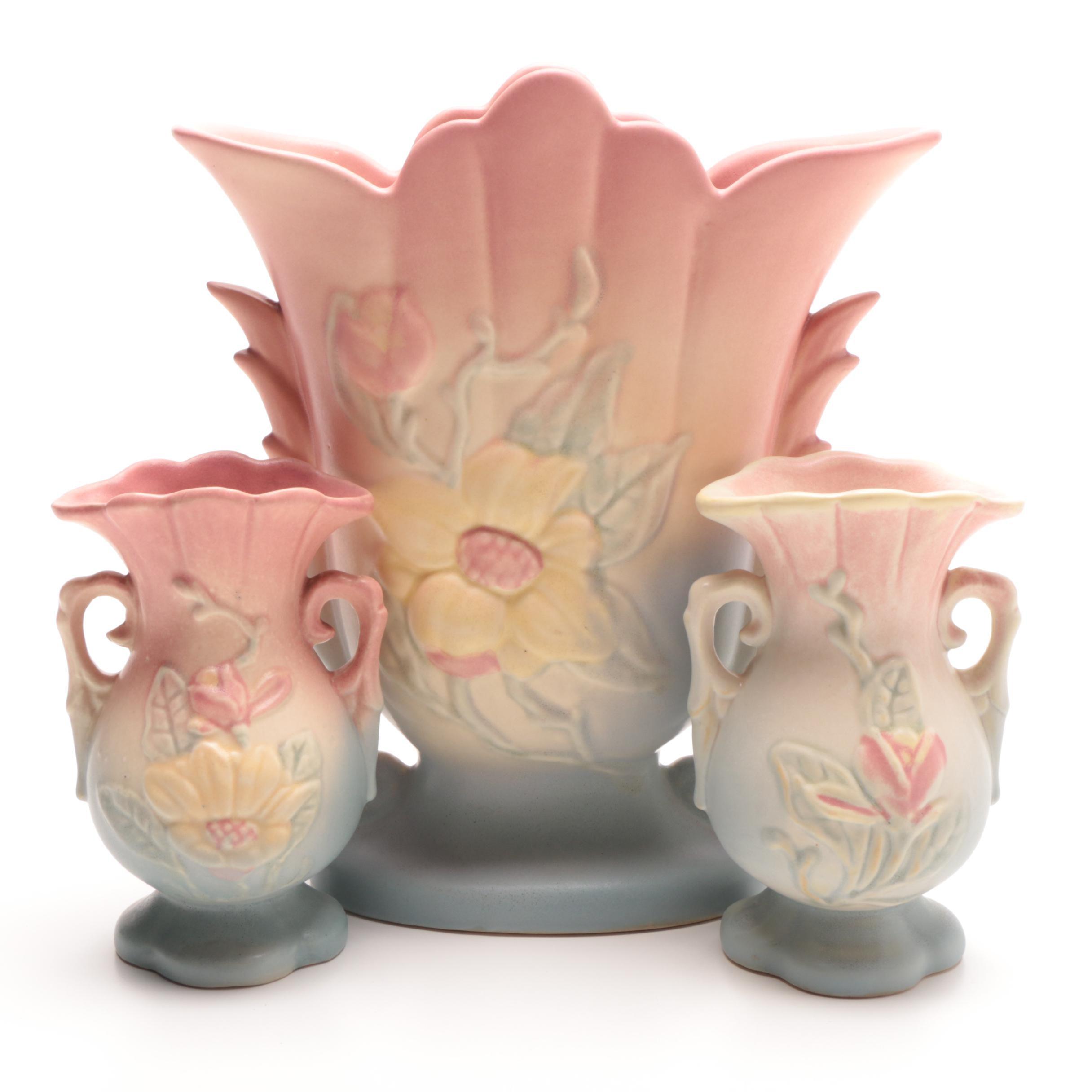 "Hull ""Magnolia"" Pottery Vases"