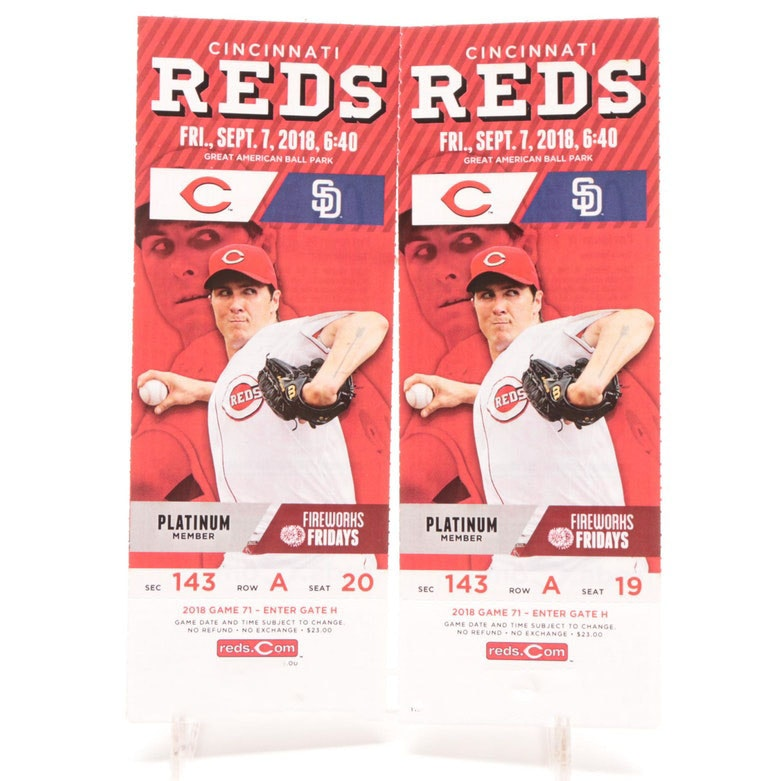 Two Tickets to Cincinnati Reds vs. San Diego Padres Game