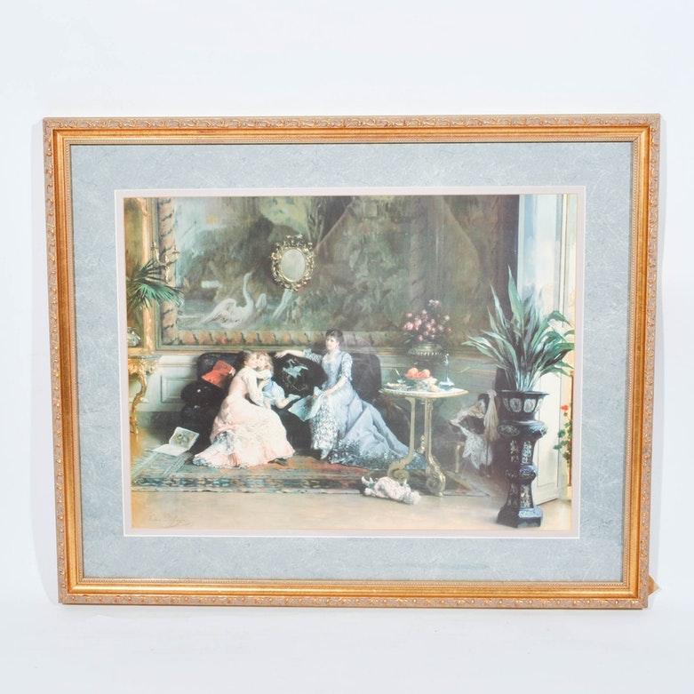 Offset Lithograph After Gustave-Leonard De Jonghe