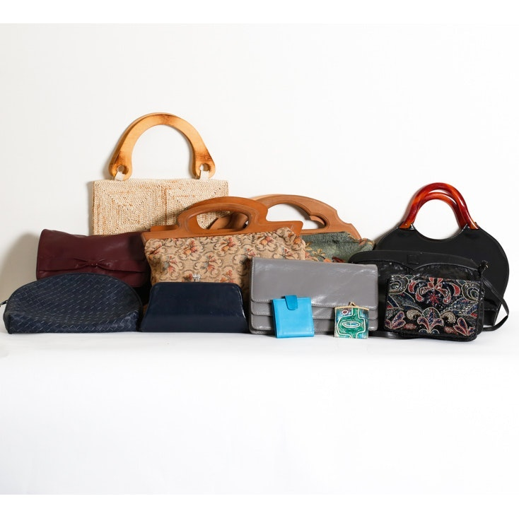 Vintage Handbags and Wallets including Tapestry and Beadwork