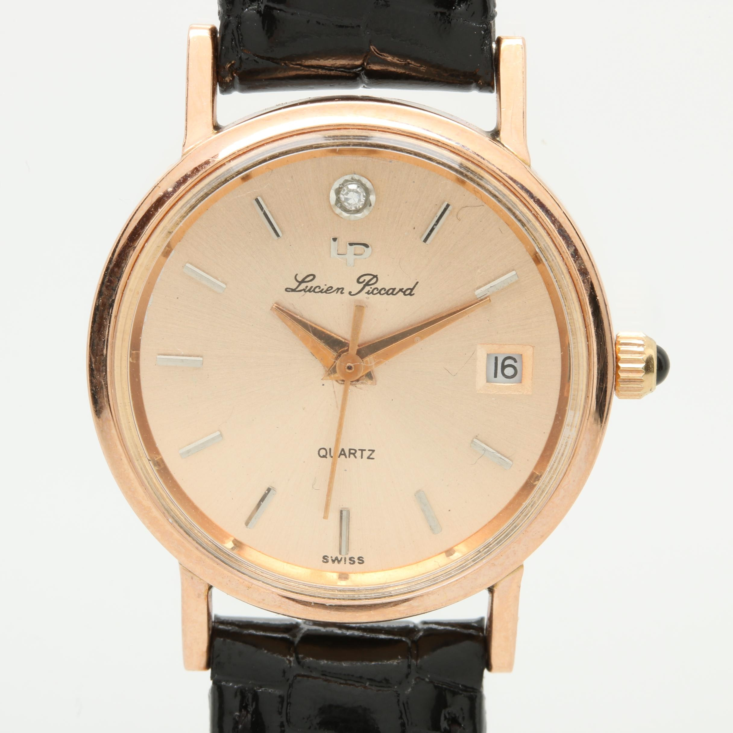 Lucien Piccard 14K Rose Gold and Diamond Wristwatch