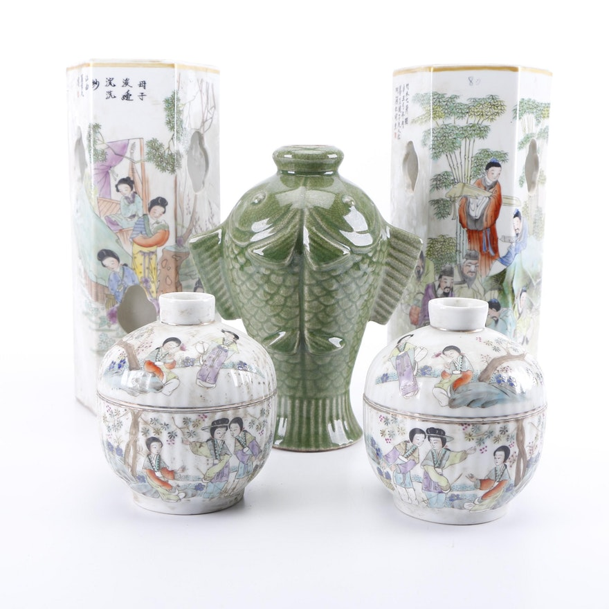 Chinese Porcelain Vases And Ginger Jars Ebth